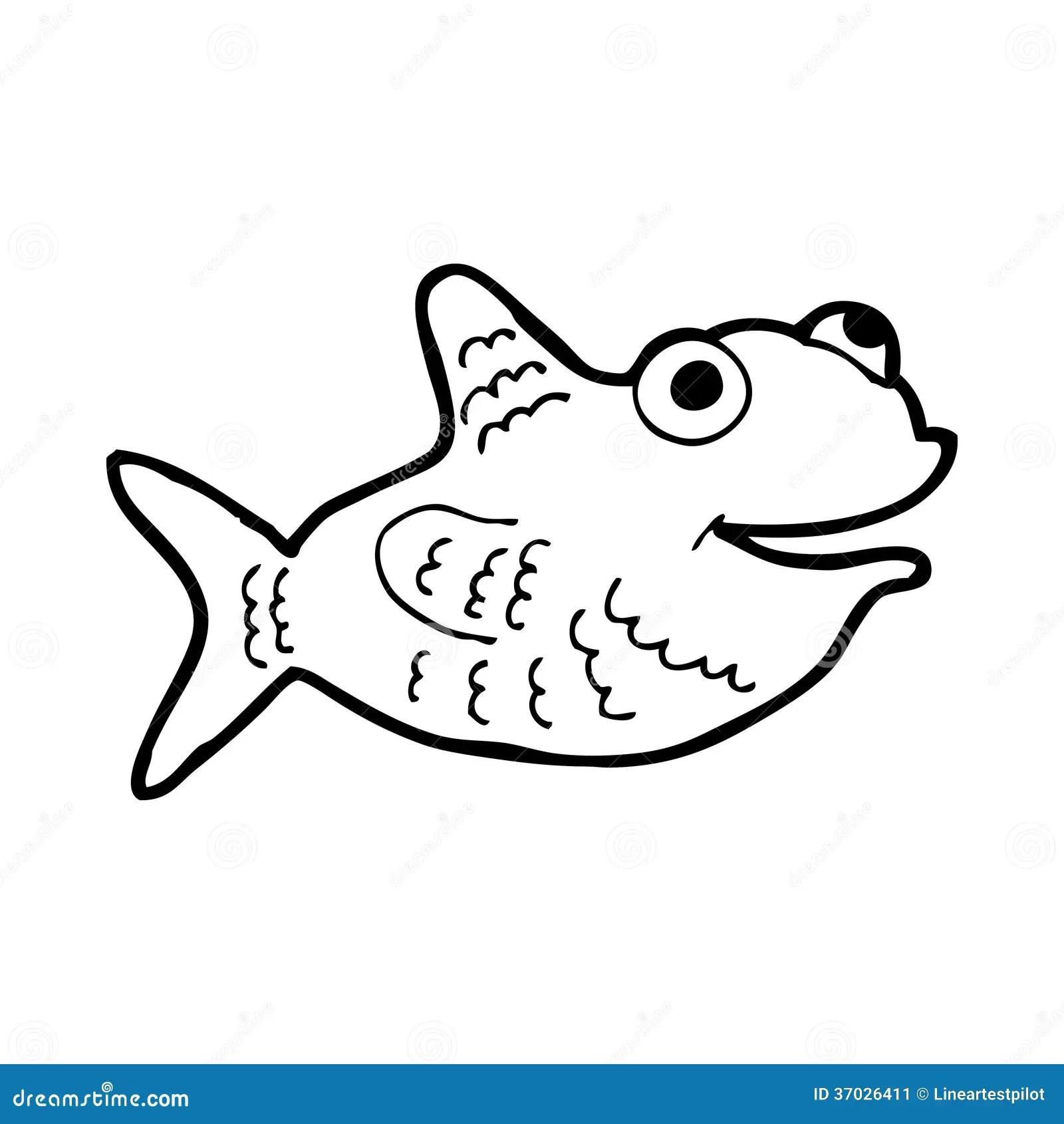 Cartoon Fish Pictures Black White