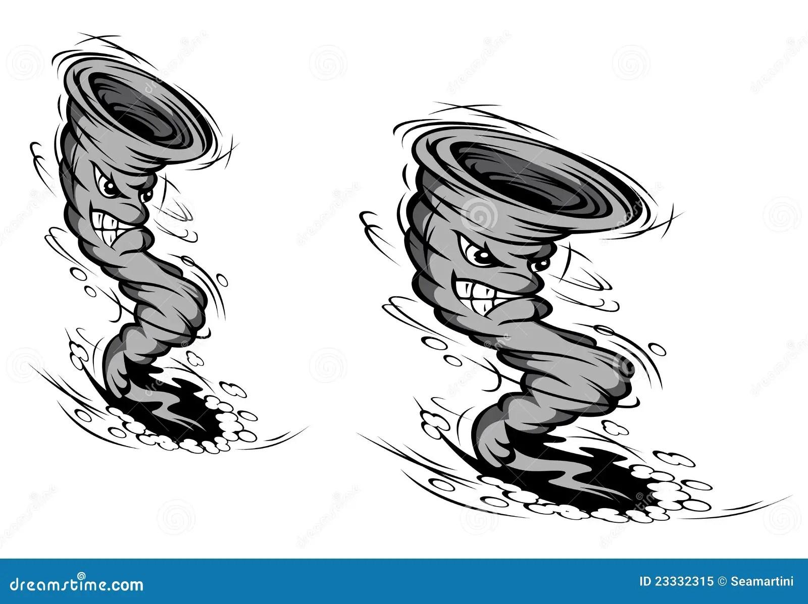 Cartoon Hurricane Royalty Free Stock Photo