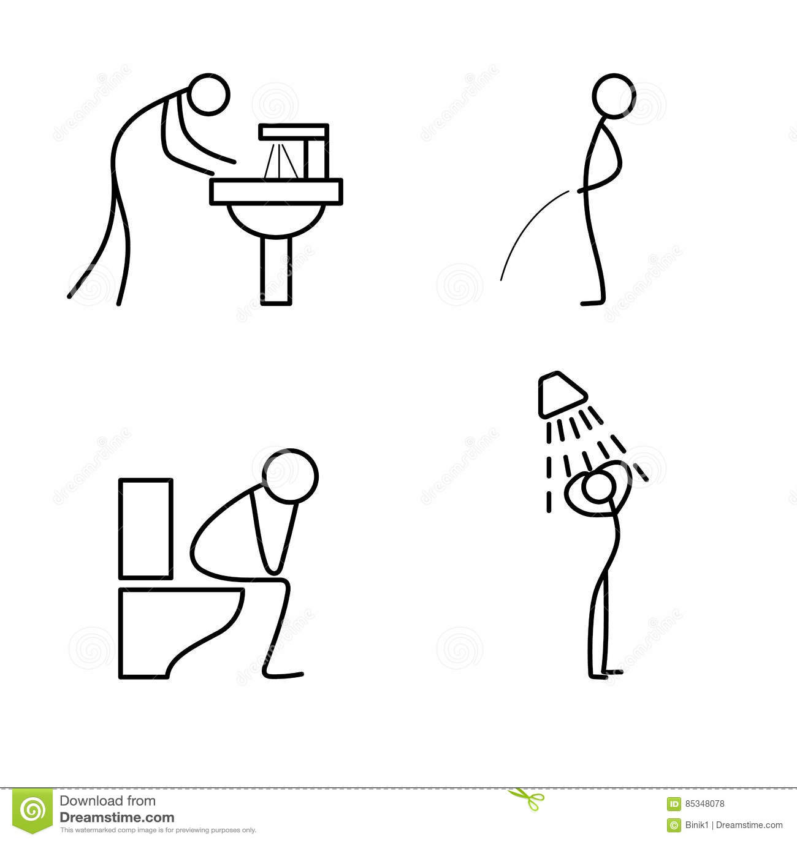 Wash Sink Cartoon