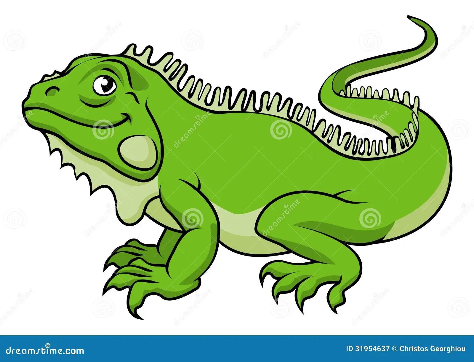 Cartoon Iguana Lizard Stock Vector Illustration Of Cute
