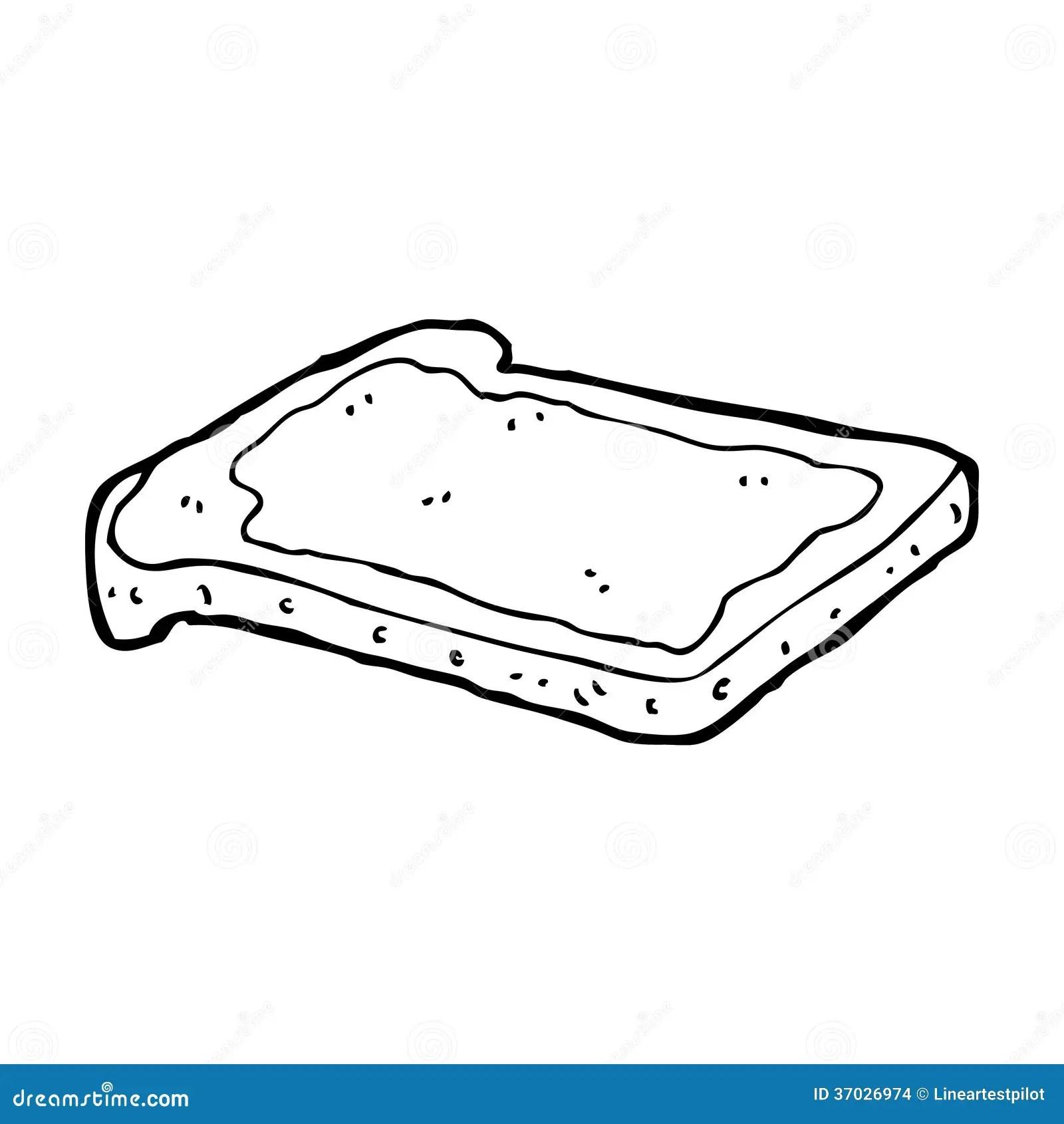 Cartoon Jam On Toast Stock Illustration Illustration Of