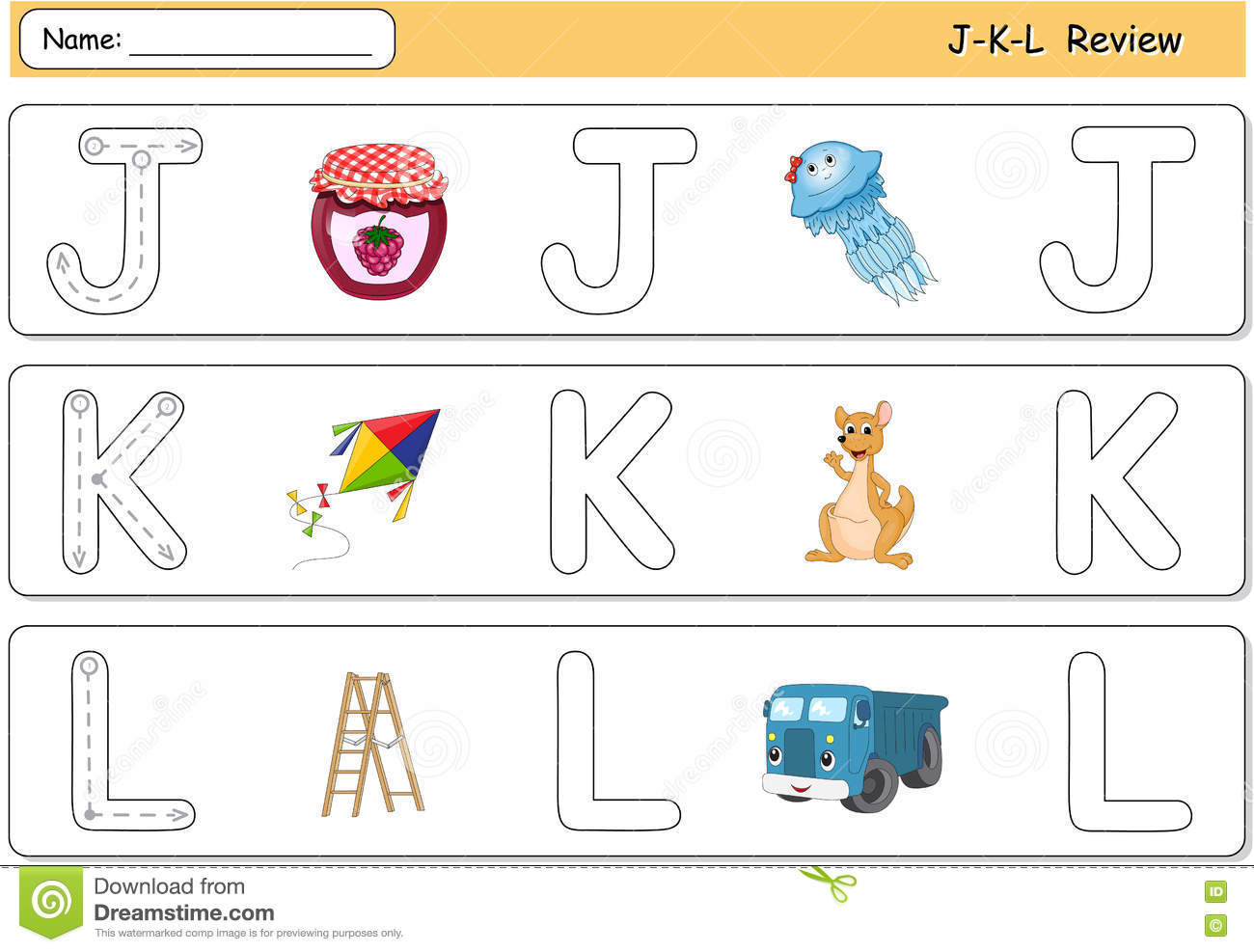 Cartoon Jellyfish Jam Kite Kangaroo Lorry And Ladder