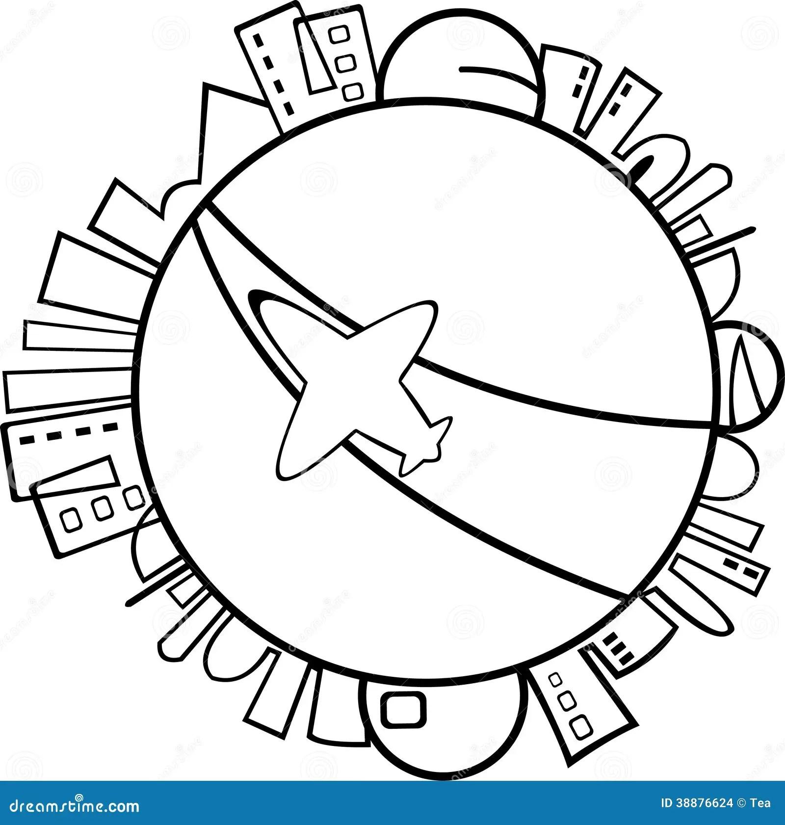 Cartoon Jet Airplane Stock Vector