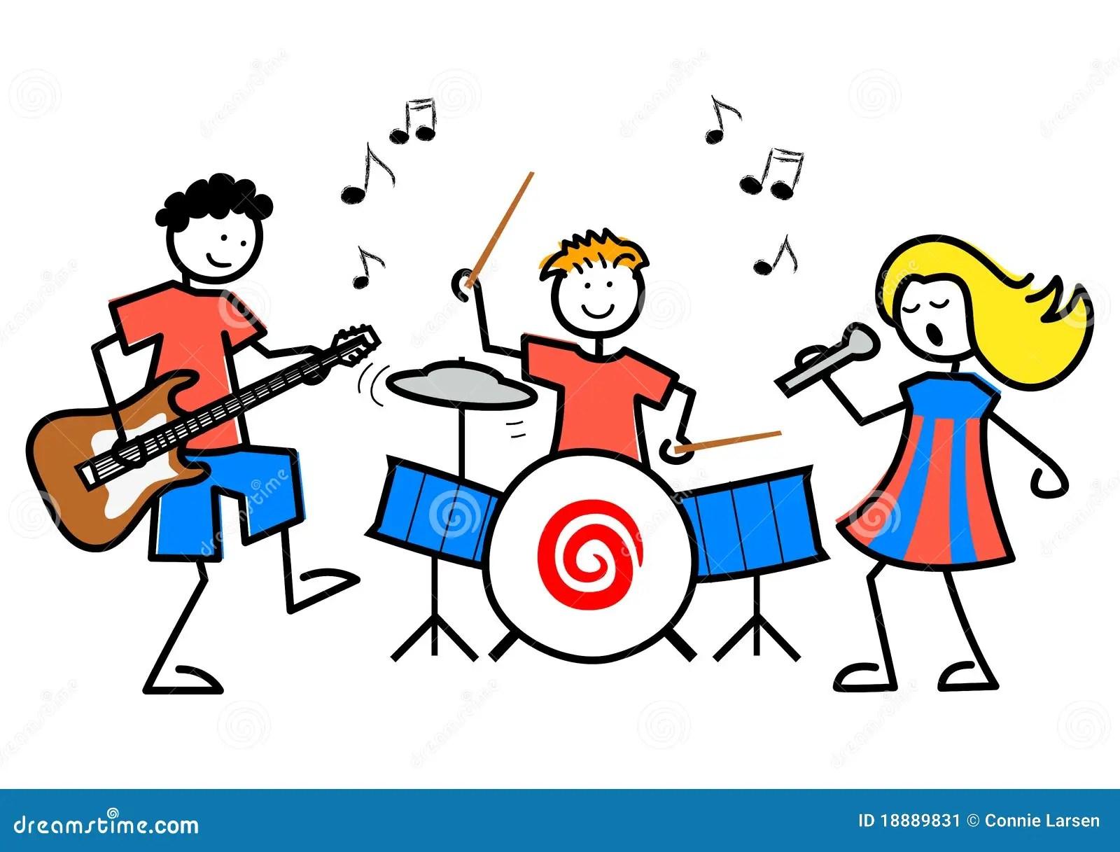Cartoon Kids Musiceps stock vector Illustration of