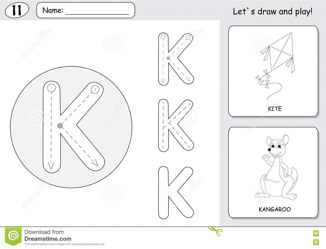 Preschool Kangaroo Worksheet