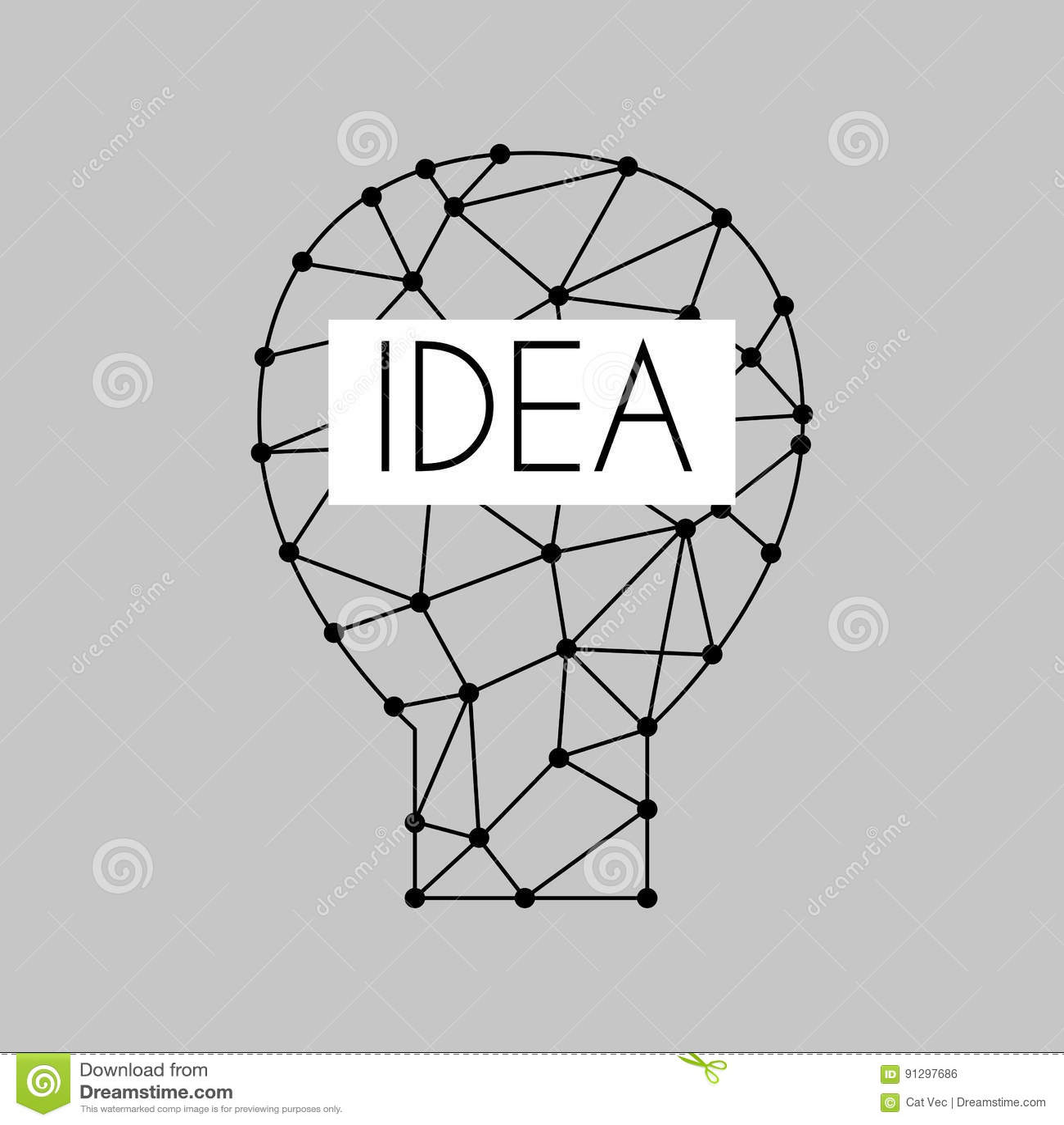 Cartoon Lamp Light Bulb Design Flat Vector Illustration