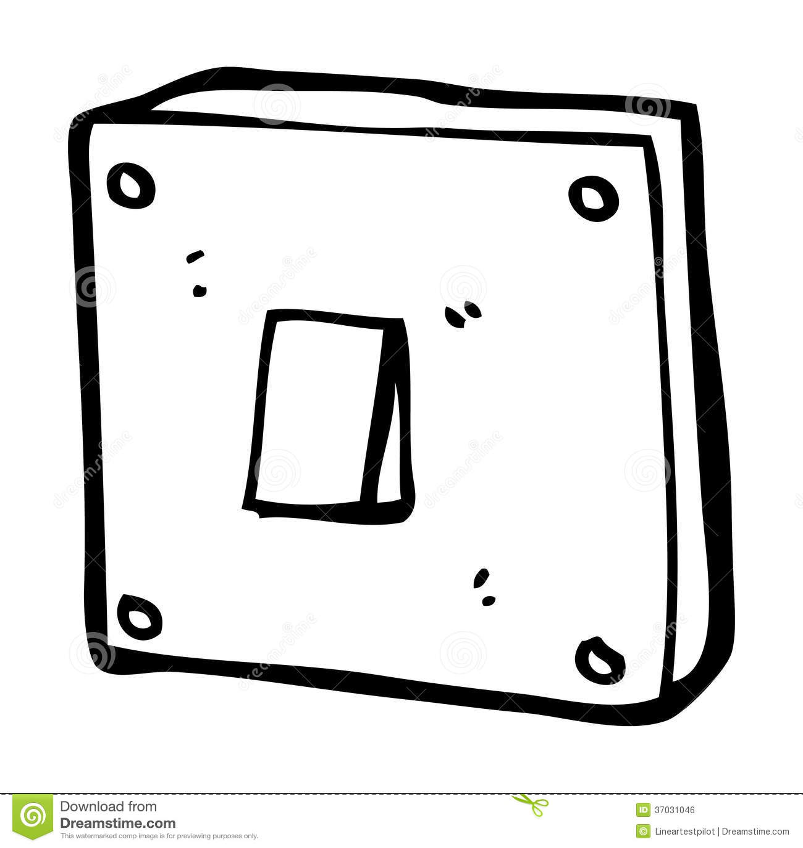 Cartoon Light Switch Stock Illustration Illustration Of