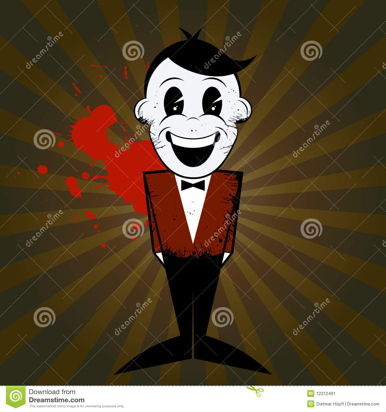 Cartoon Man With Bow Tie Stock Vector Image Of Drawing