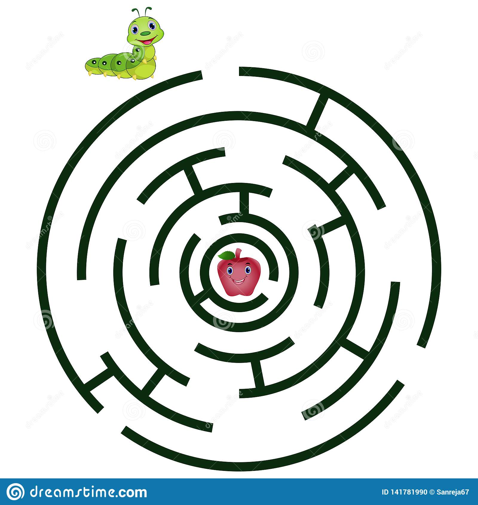 Maze For Kids Cartoon Vector