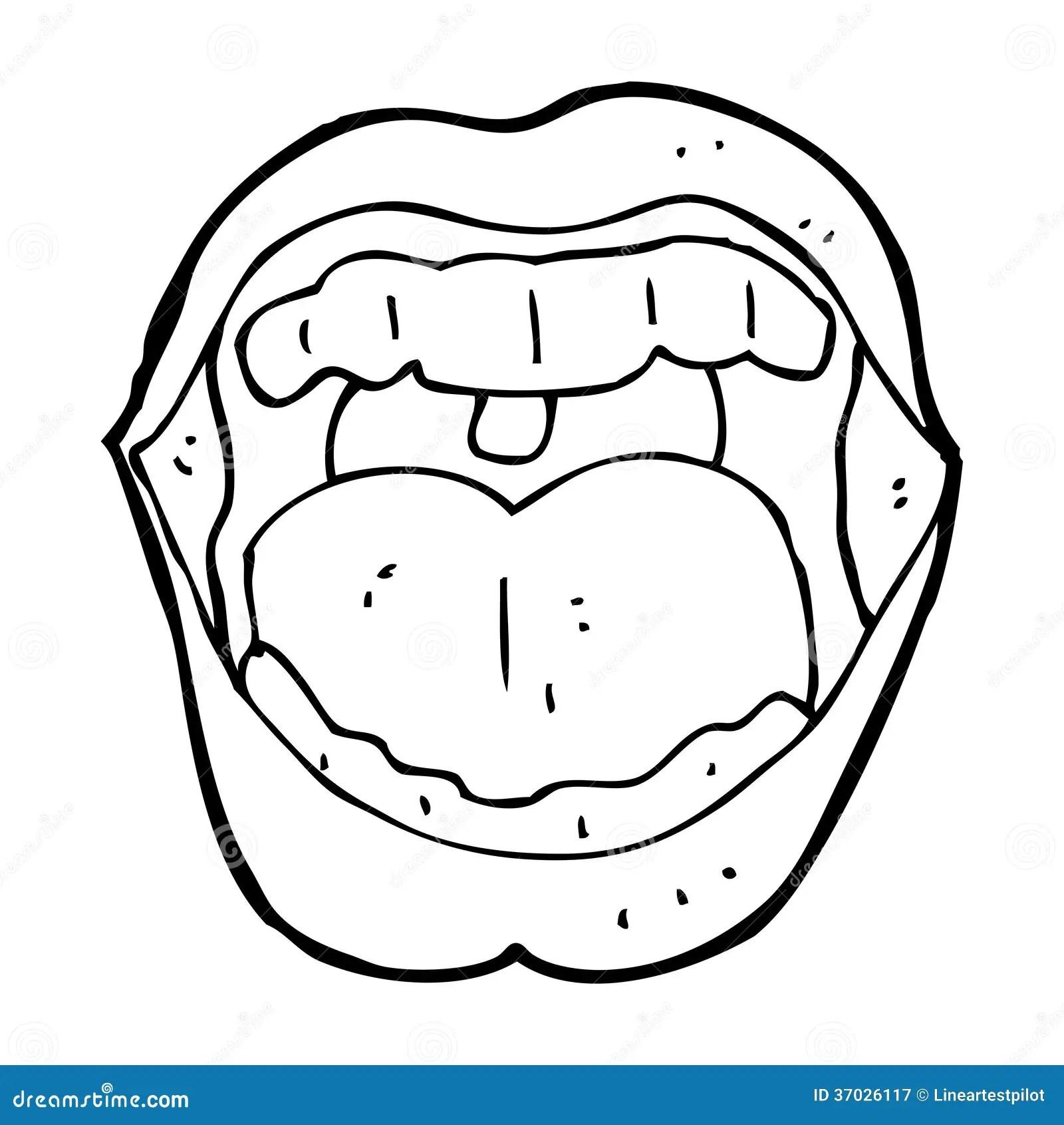 Cartoon Mouth Stock Illustration Illustration Of
