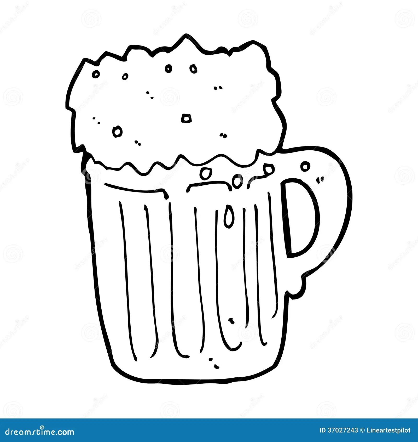 Cartoon Mug Of Beer Stock Illustration Illustration Of