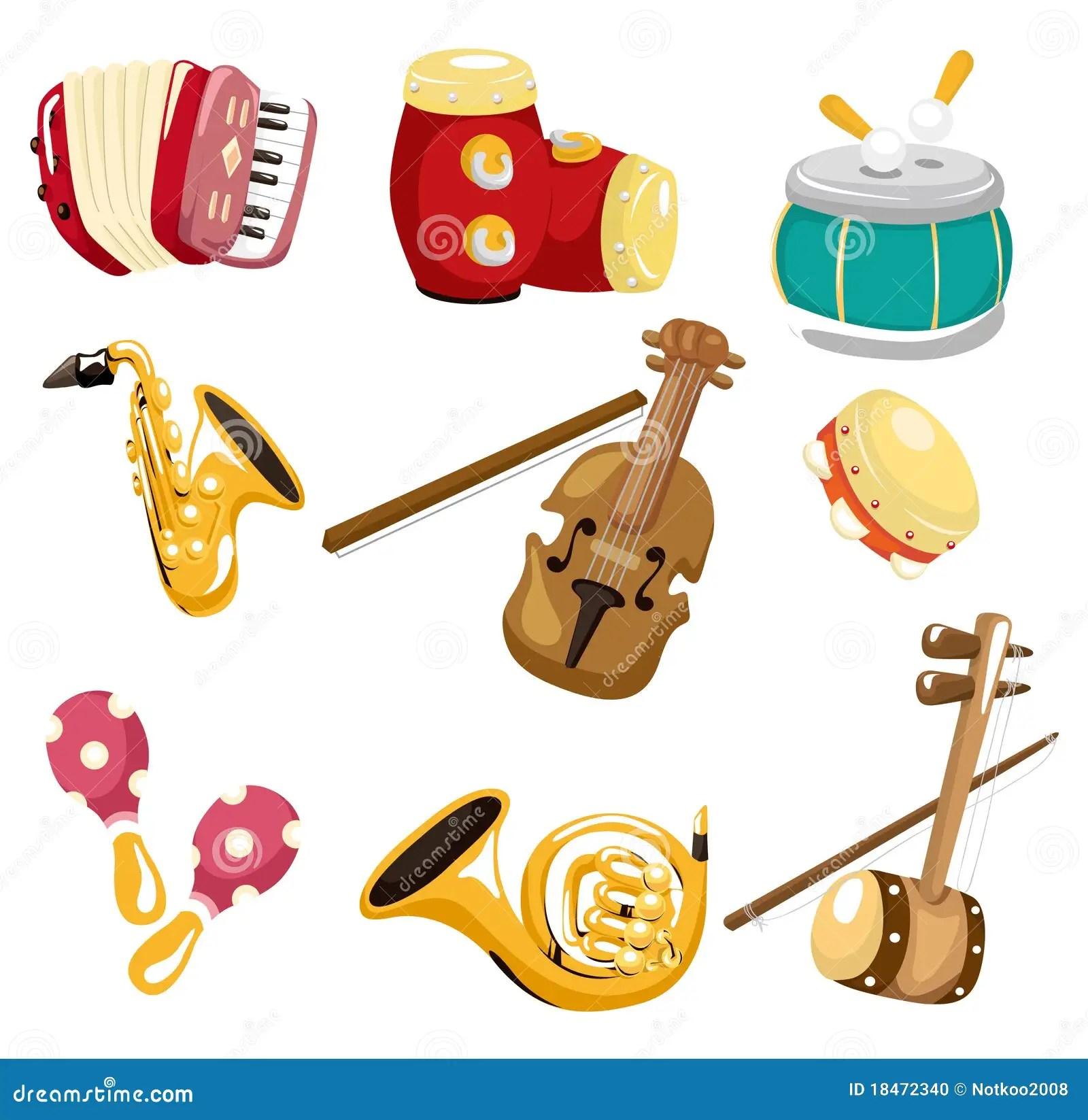 Cartoon Musical Instrument Icon Stock Vector