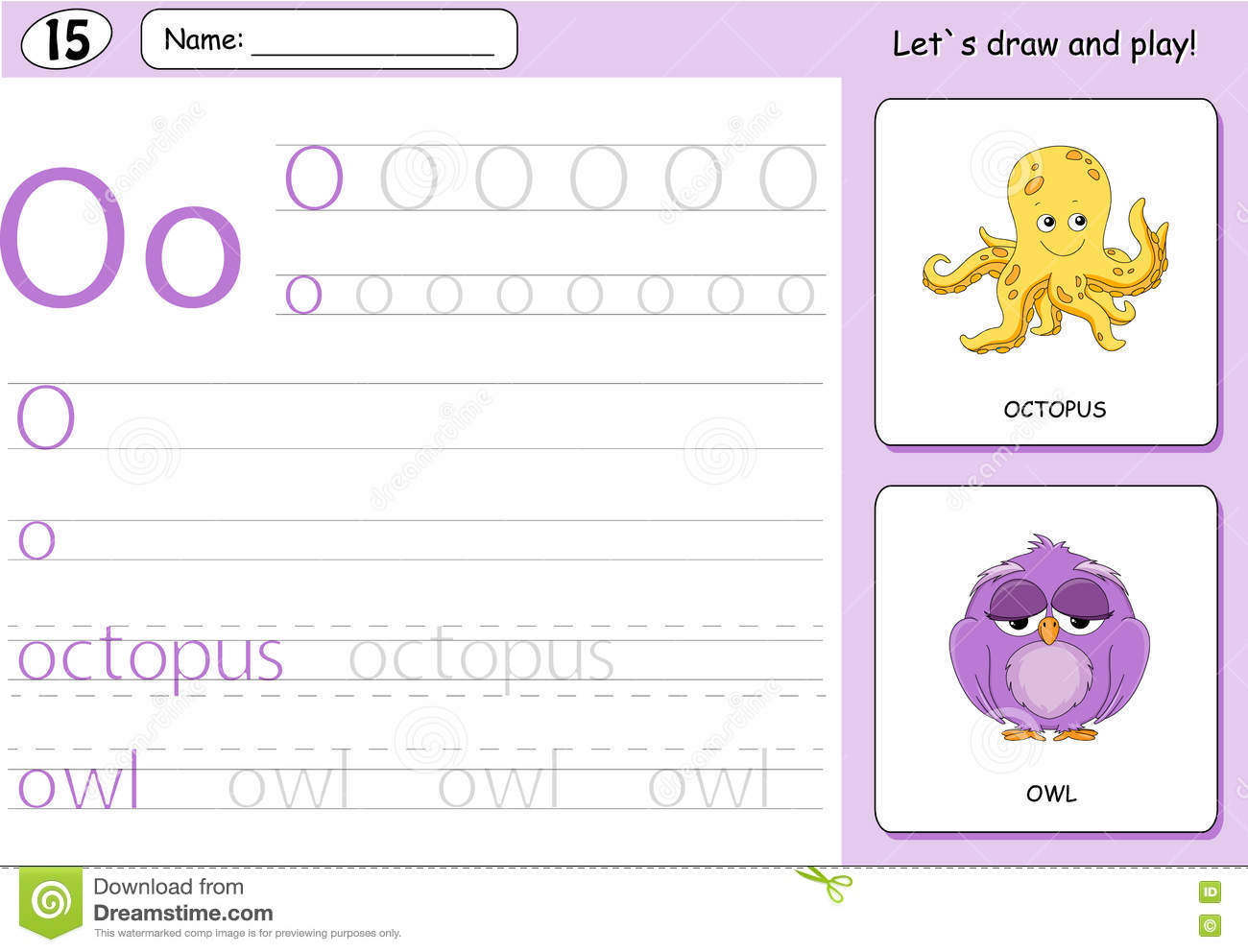Owl Tracing Worksheet