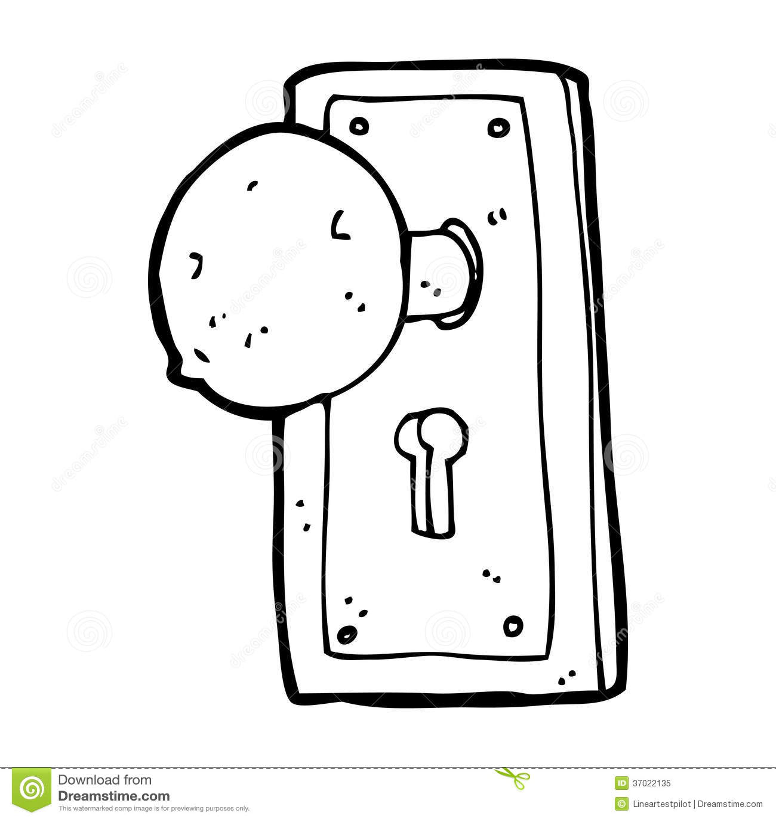 Cartoon Old Door Knob Stock Illustration Illustration Of