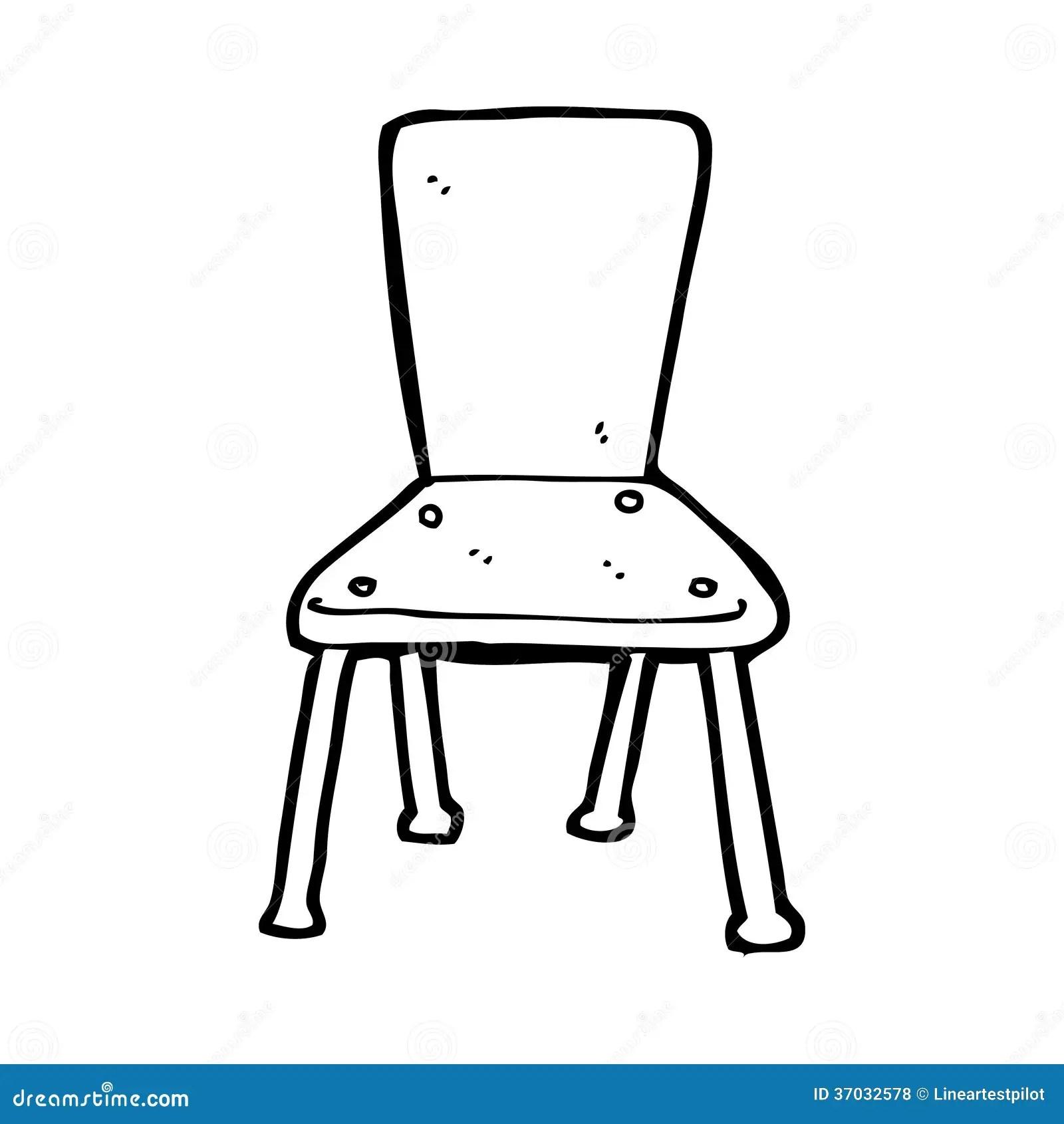 Cartoon Old School Chair Stock Illustration Illustration