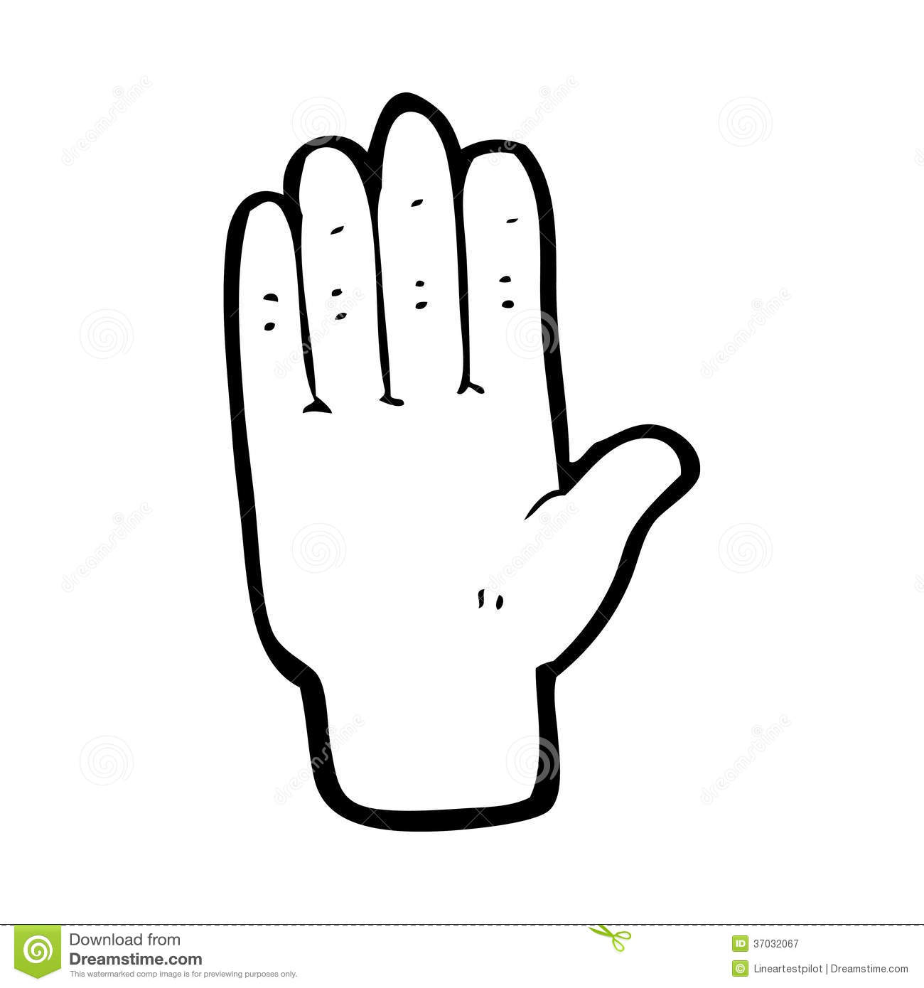 Cartoon Open Hand Royalty Free Stock Photography
