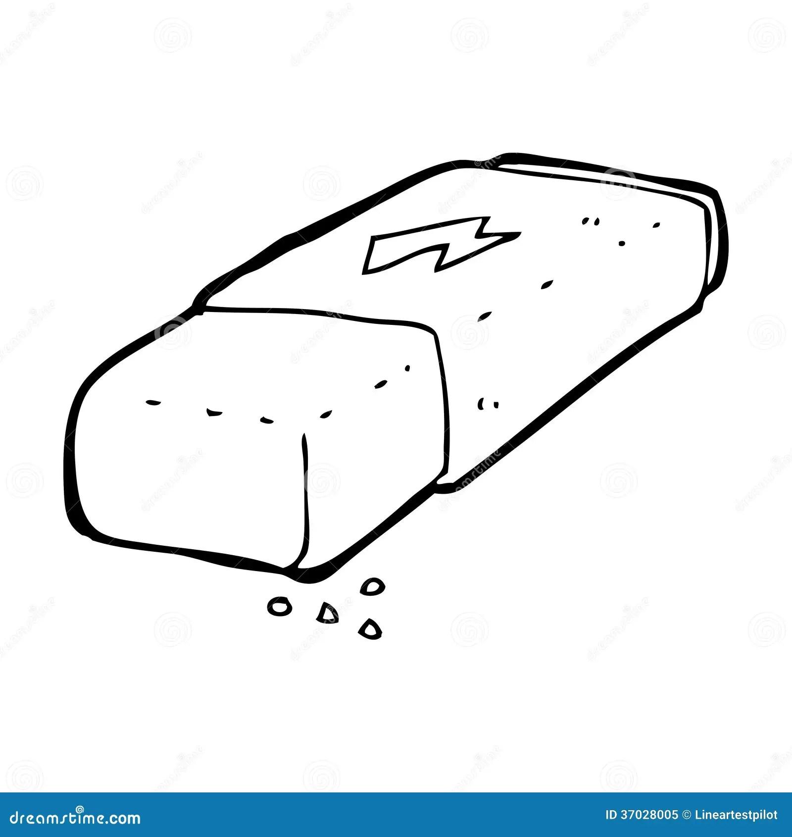 Cartoon Pencil Eraser Stock Illustration Illustration Of