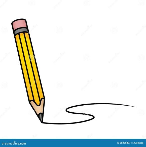 Cartoon Pencil stock vector. Illustration of grey, outline - 50236897
