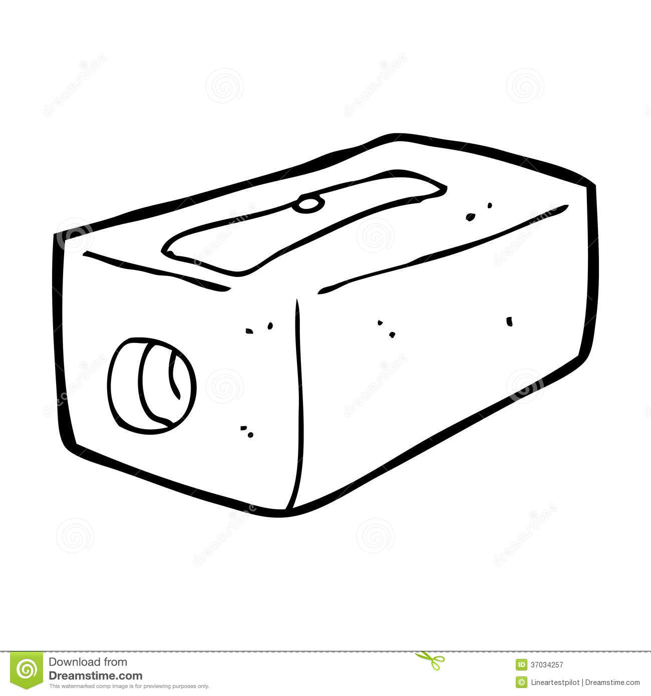 Cute Cartoon Pencil Sharpener Vector Illustration