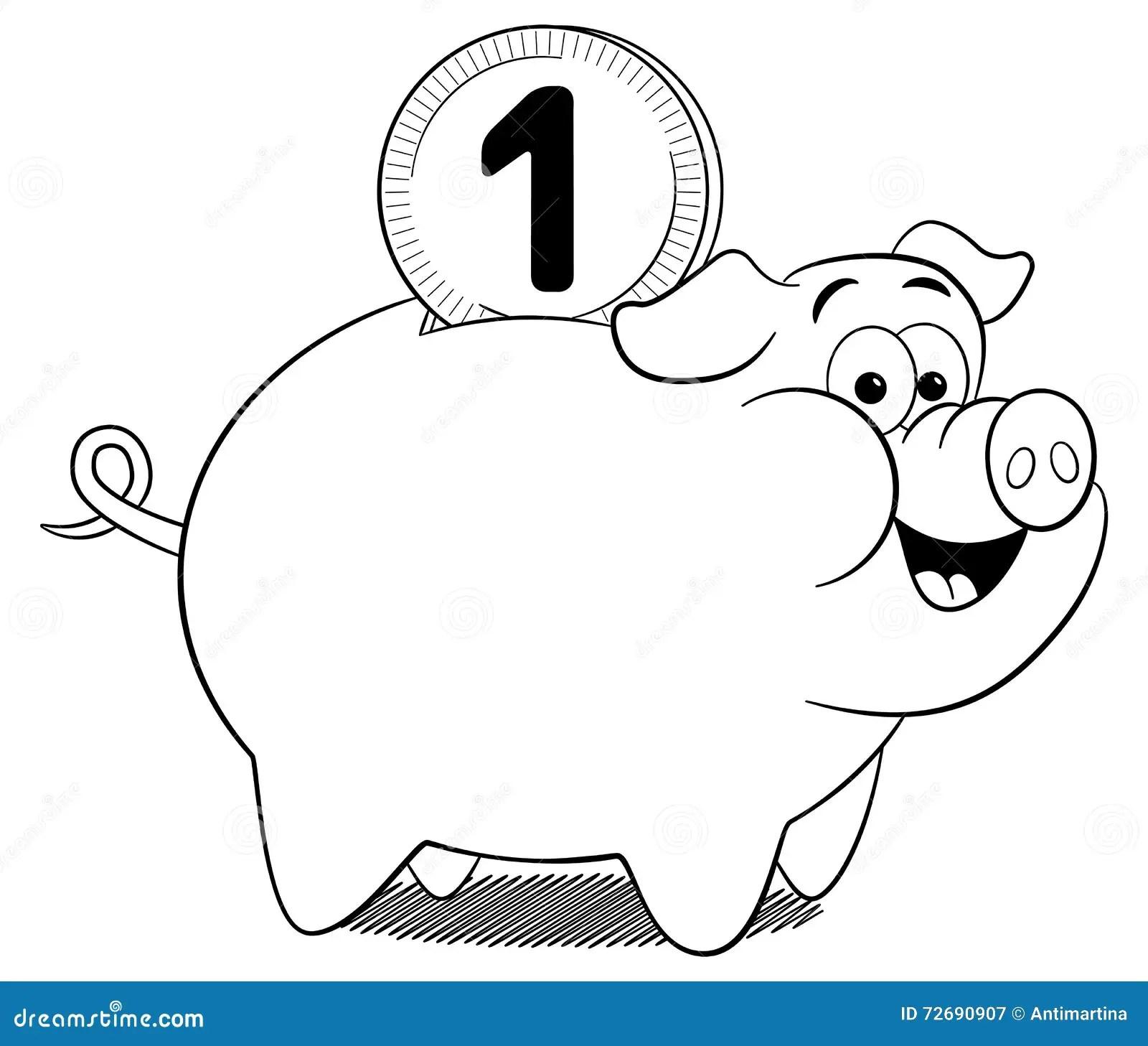 Cartoon Piggy Bank Stock Vector Illustration Of Banking