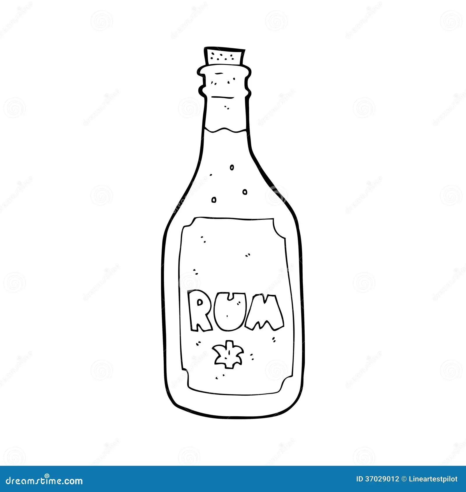 Cartoon Rum Bottle Stock Photography