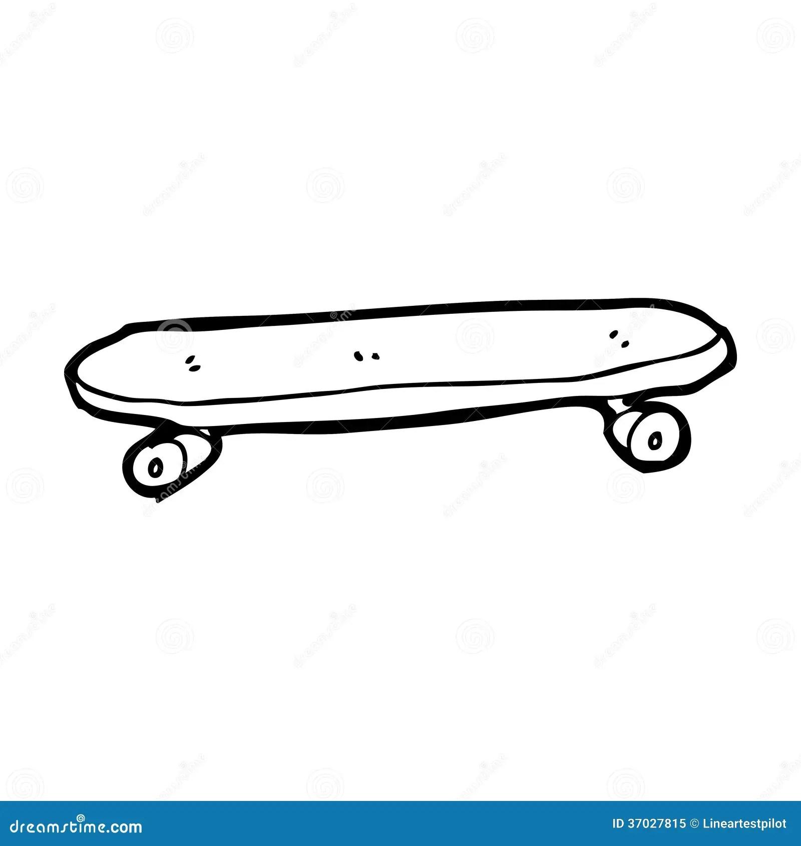 Cartoon Skateboard Stock Illustration Illustration Of