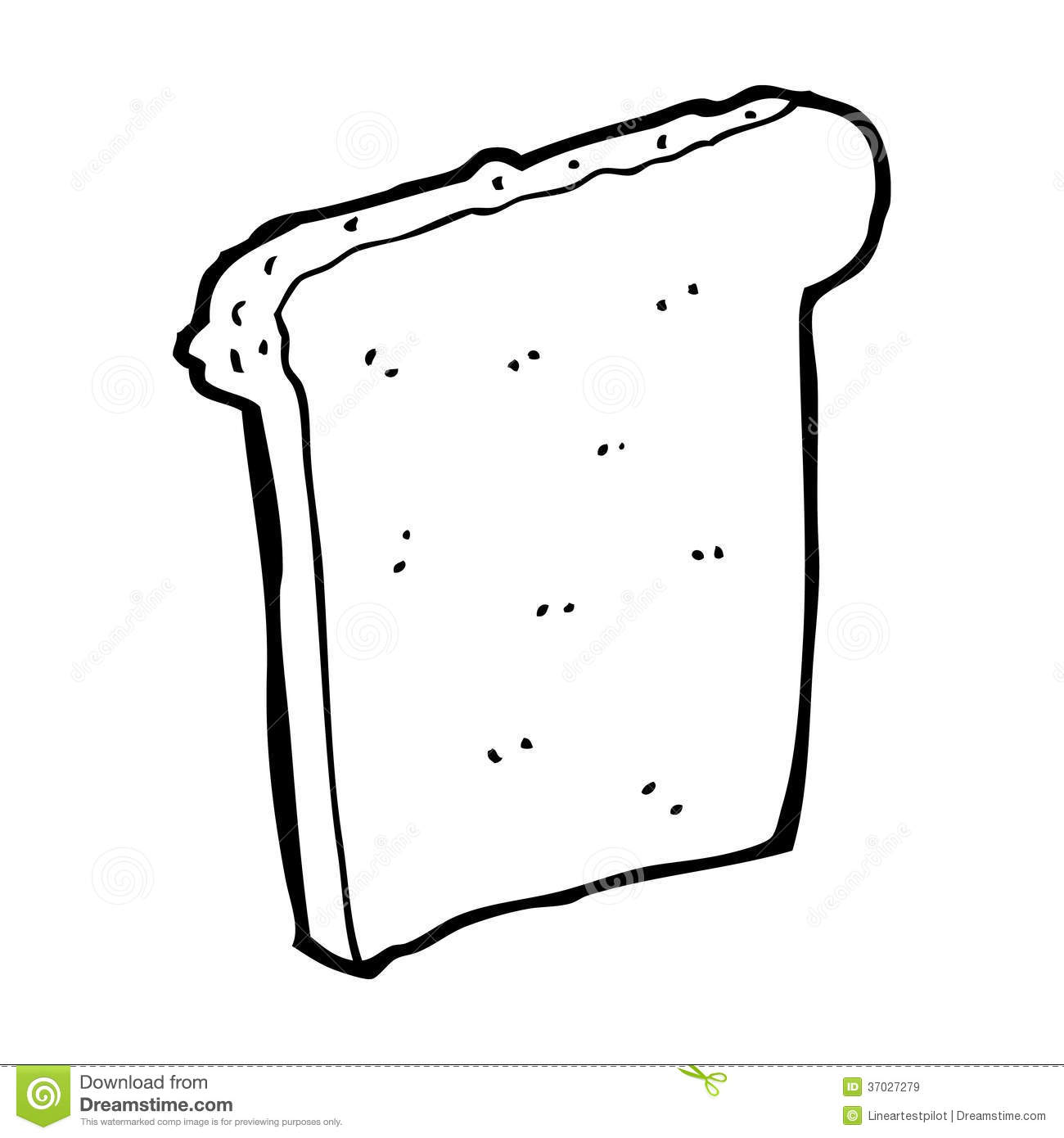 Cartoon Slice Of Bread Royalty Free Stock Images