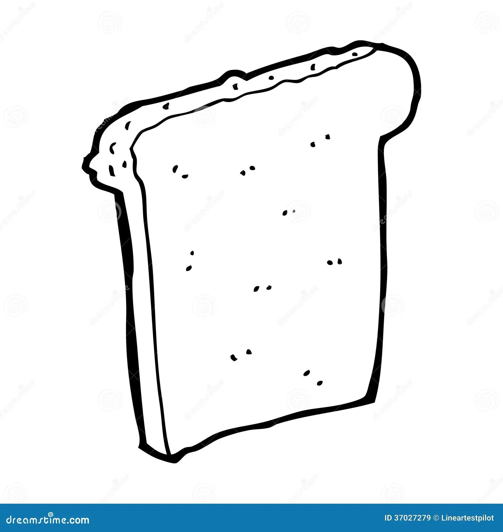 Cartoon Slice Of Bread Stock Illustration Illustration Of