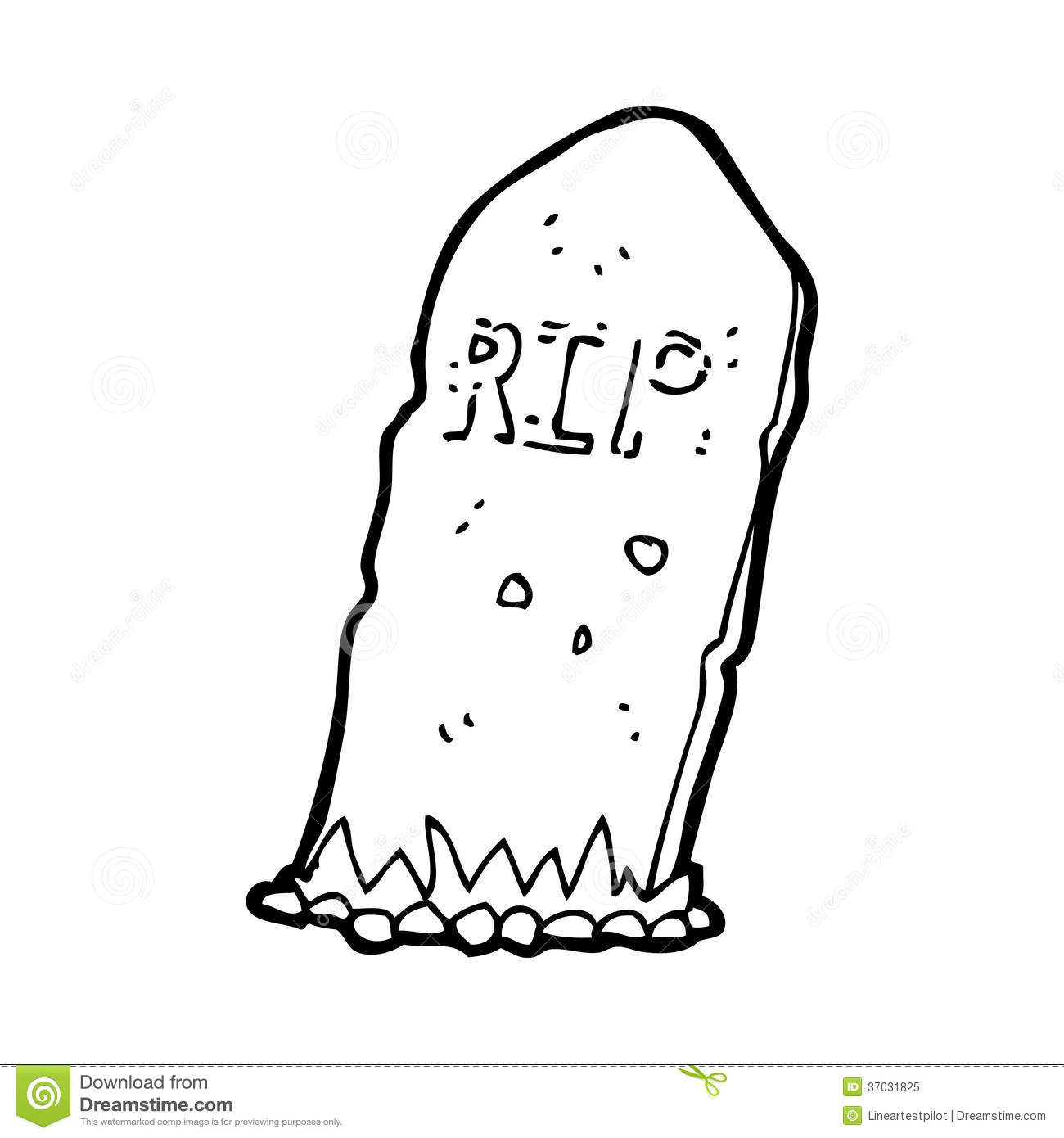 Cartoon Spooky Grave Stock Illustration Image Of Drawing
