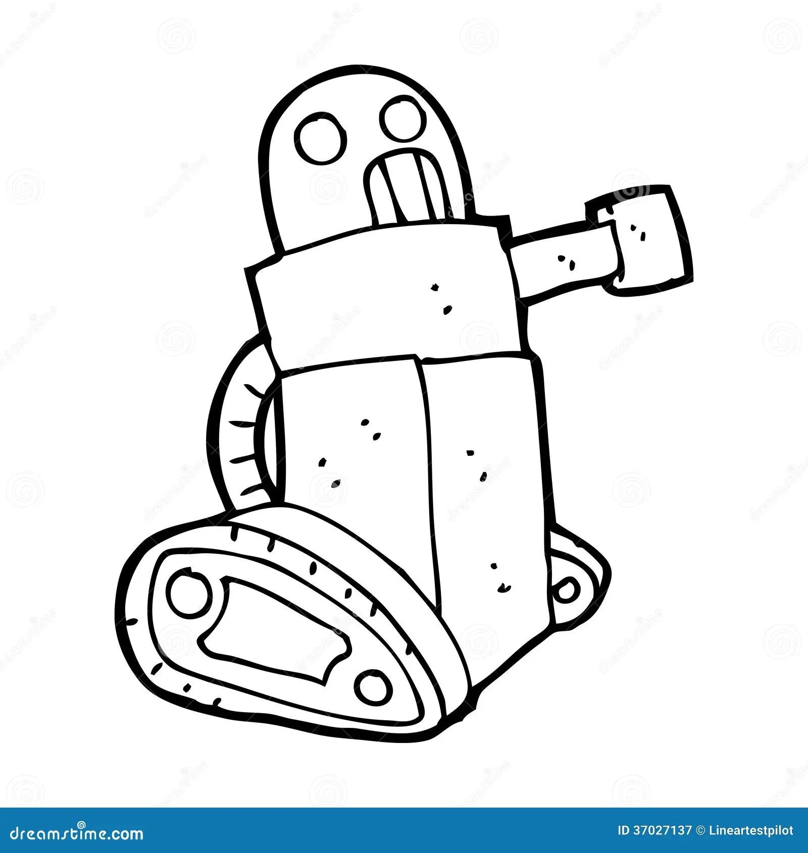 Cartoon Tank Robot Royalty Free Stock Photography