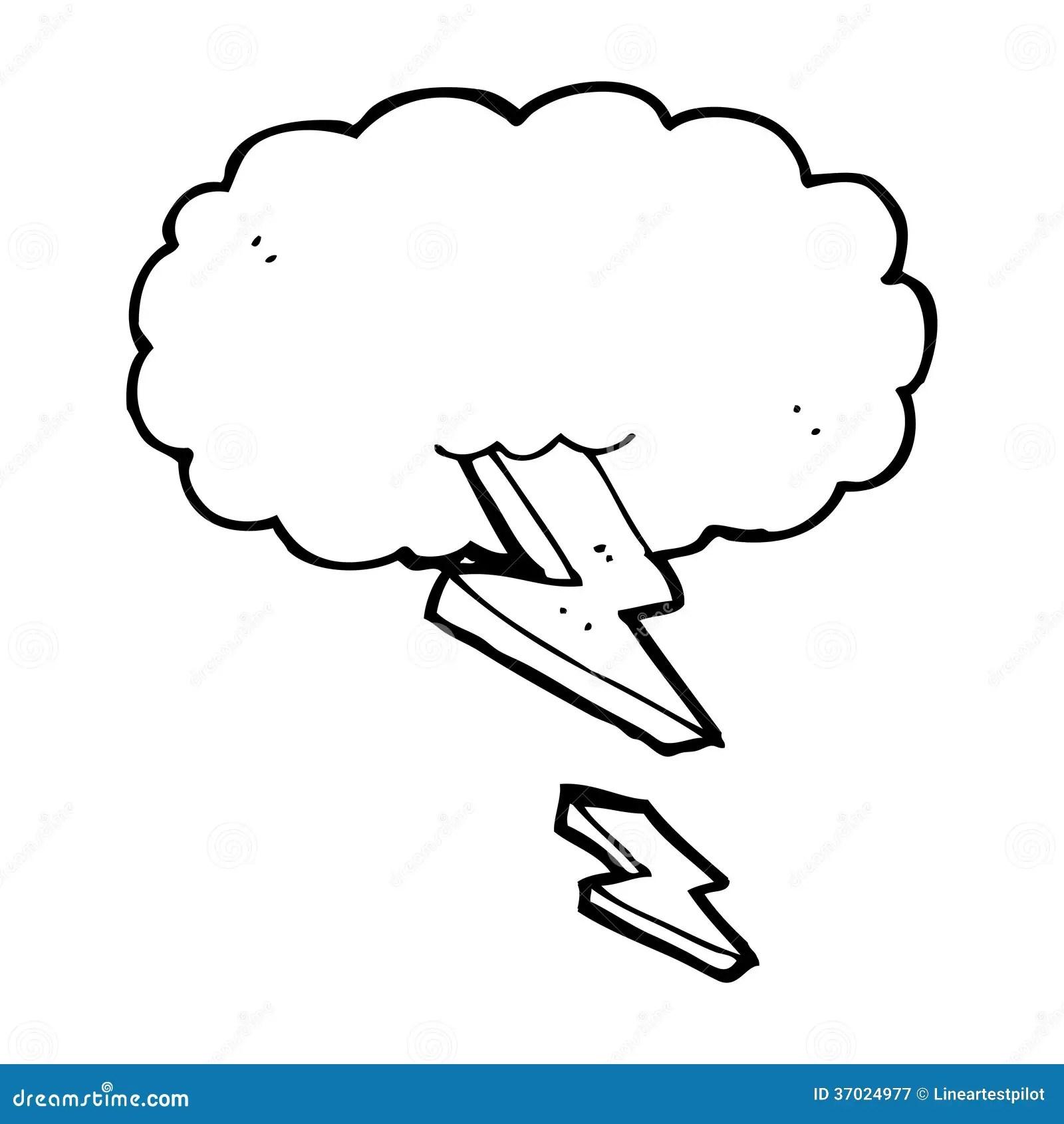 Cartoon Thundercloud Royalty Free Stock Photography