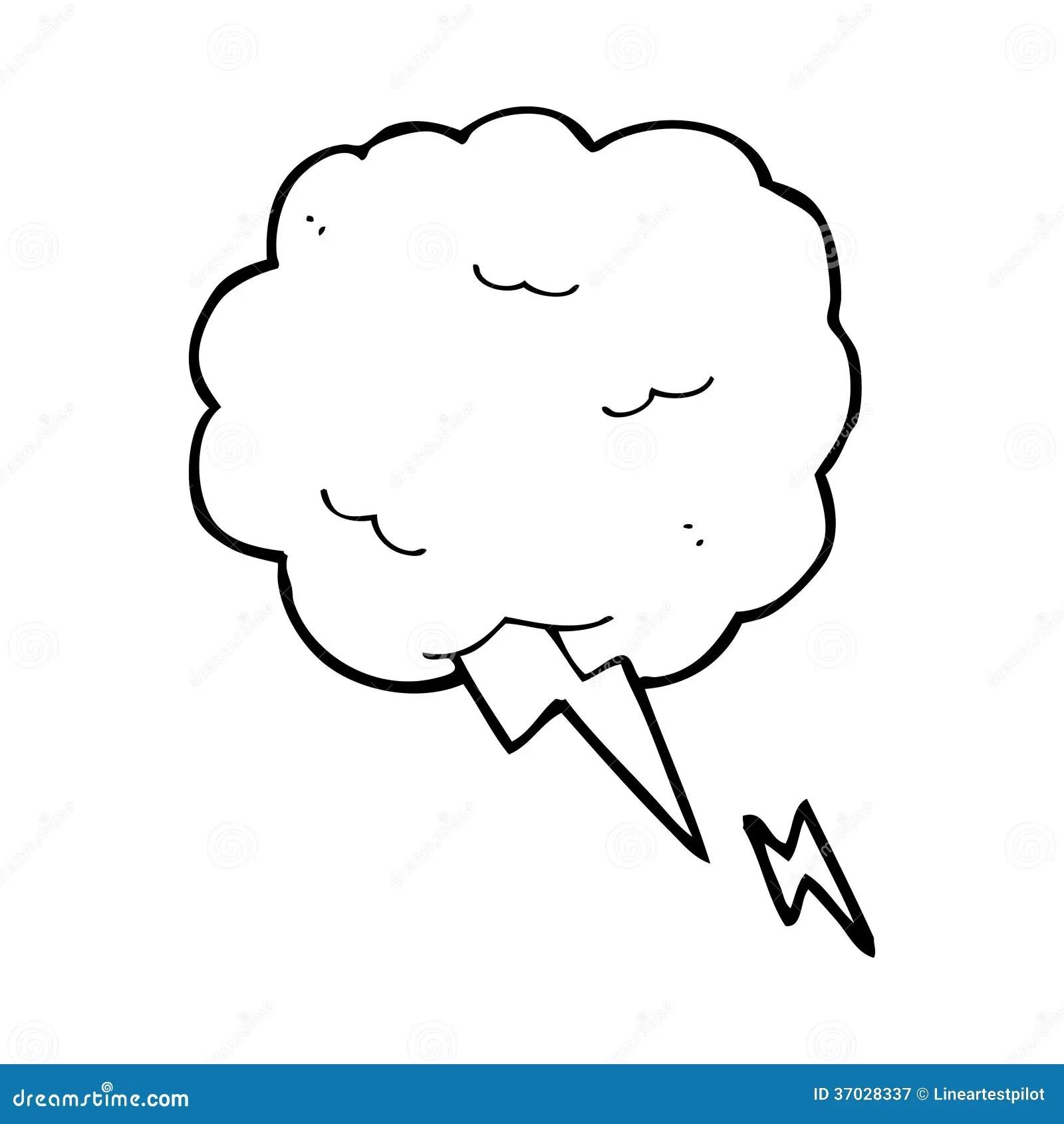 Cartoon Thundercloud Symbol Royalty Free Stock Photography