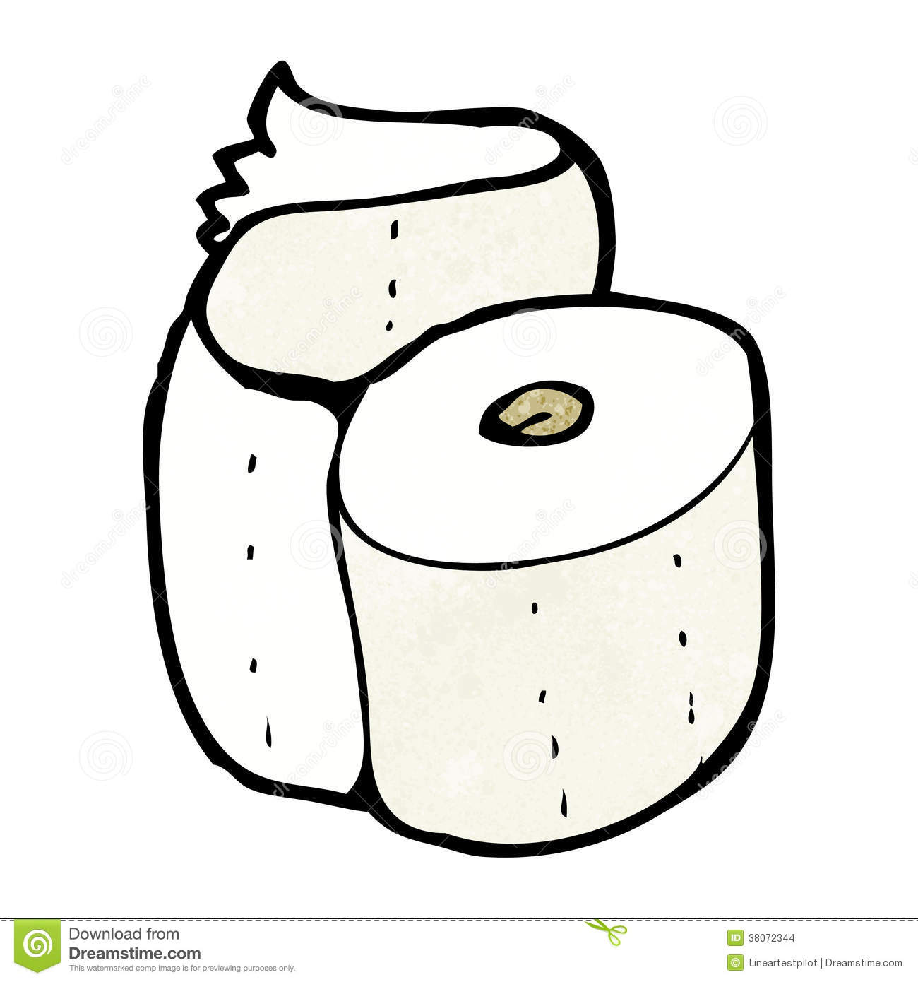Cartoon Toilet Roll Stock Illustration Image Of Hand