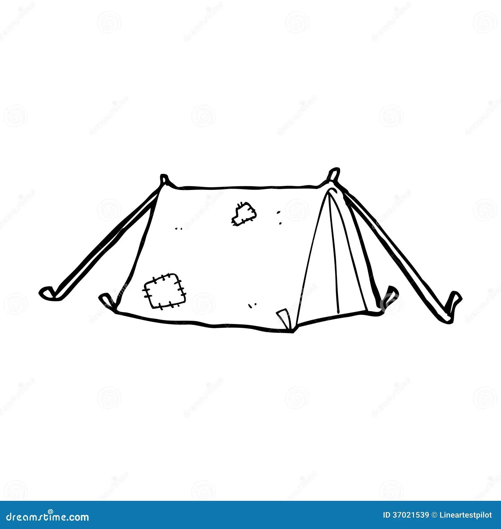 Cartoon Traditional Tent Stock Illustration Illustration