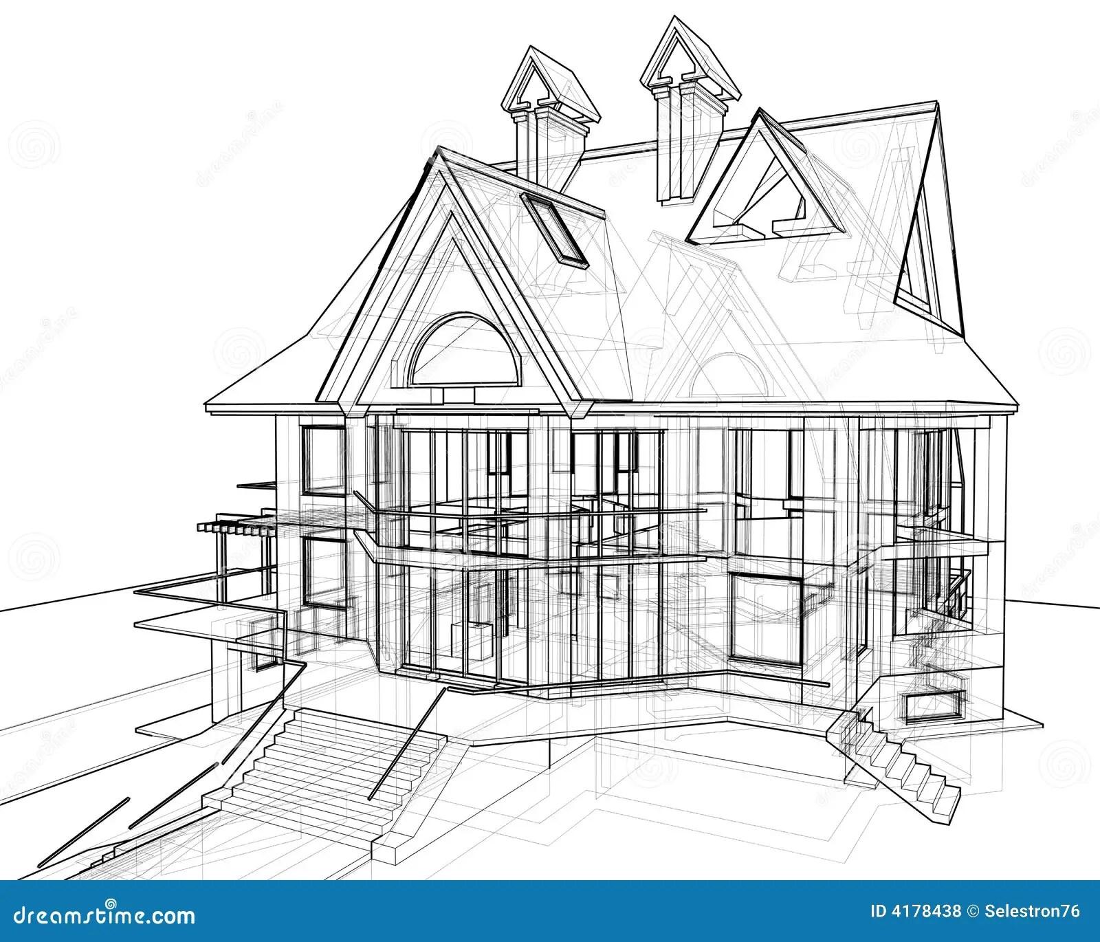Casa Tracao Tecnica Ilustracao Stock Ilustracao De