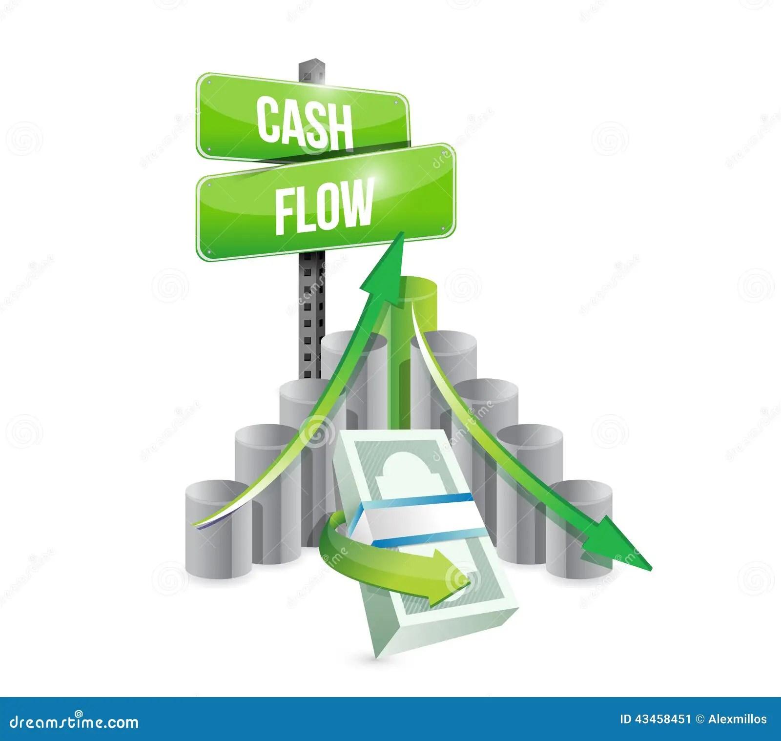 Cash Flow Business Graph Illustration Design Stock