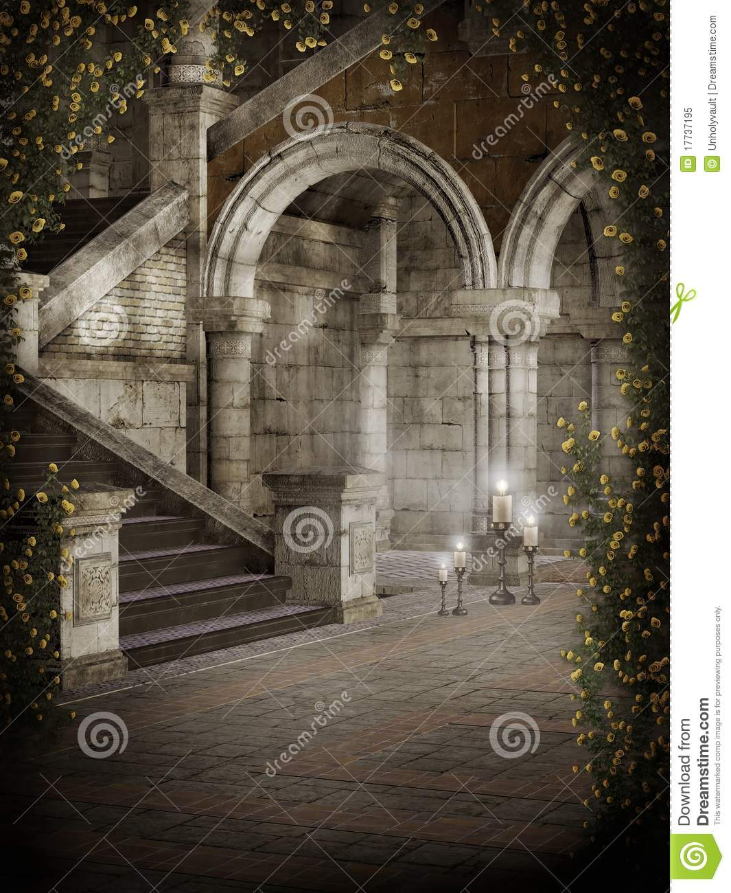 Castle Courtyard Royalty Free Stock Photo Image 17737195