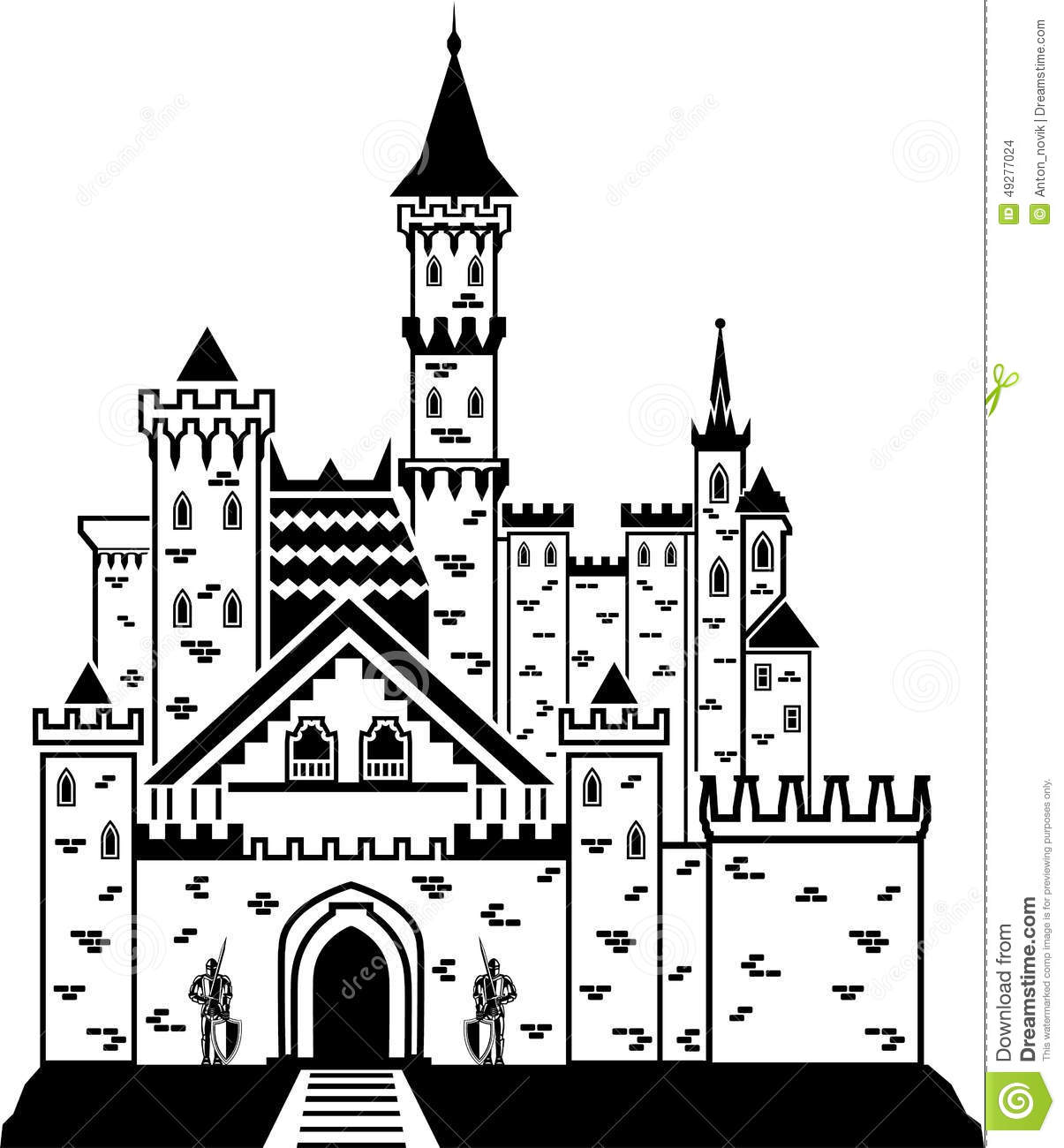 Castle Knight Stock Vector Image Of Brave Metal Nature