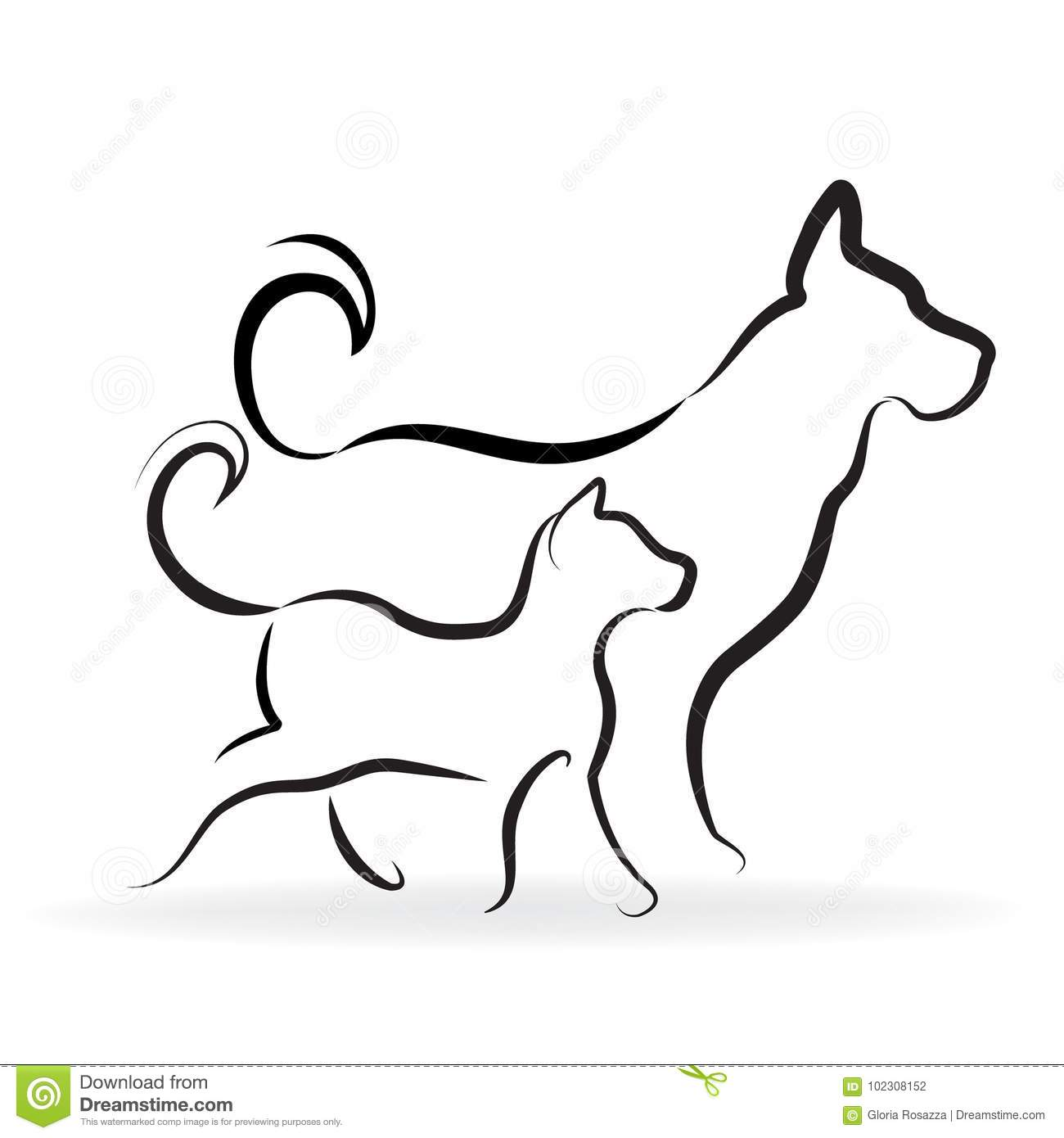 Cat And Dog Logo Stock Vector Illustration Of Adoption