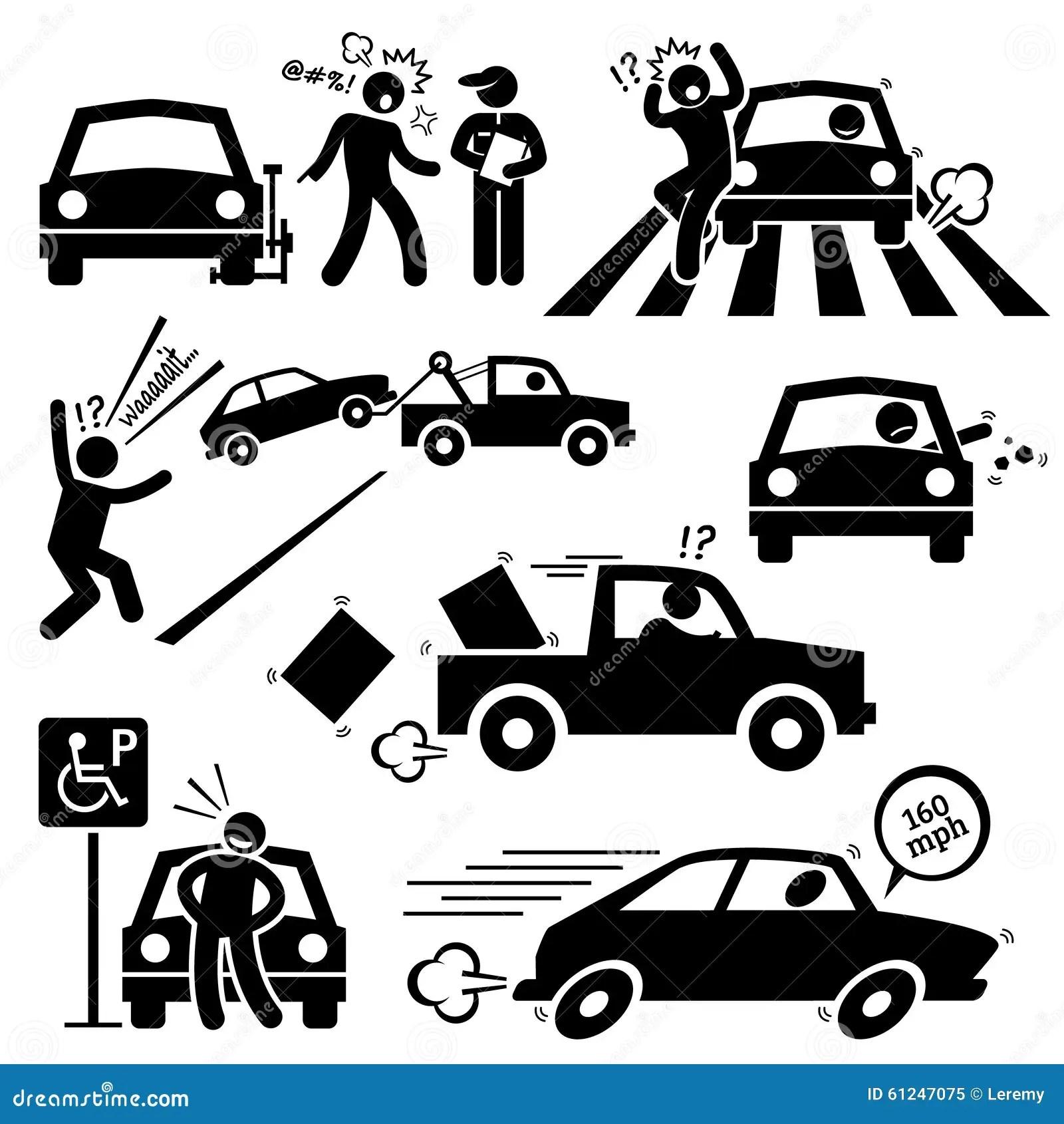 Cattivo Autista Di Automobile Furious Driving Clipart