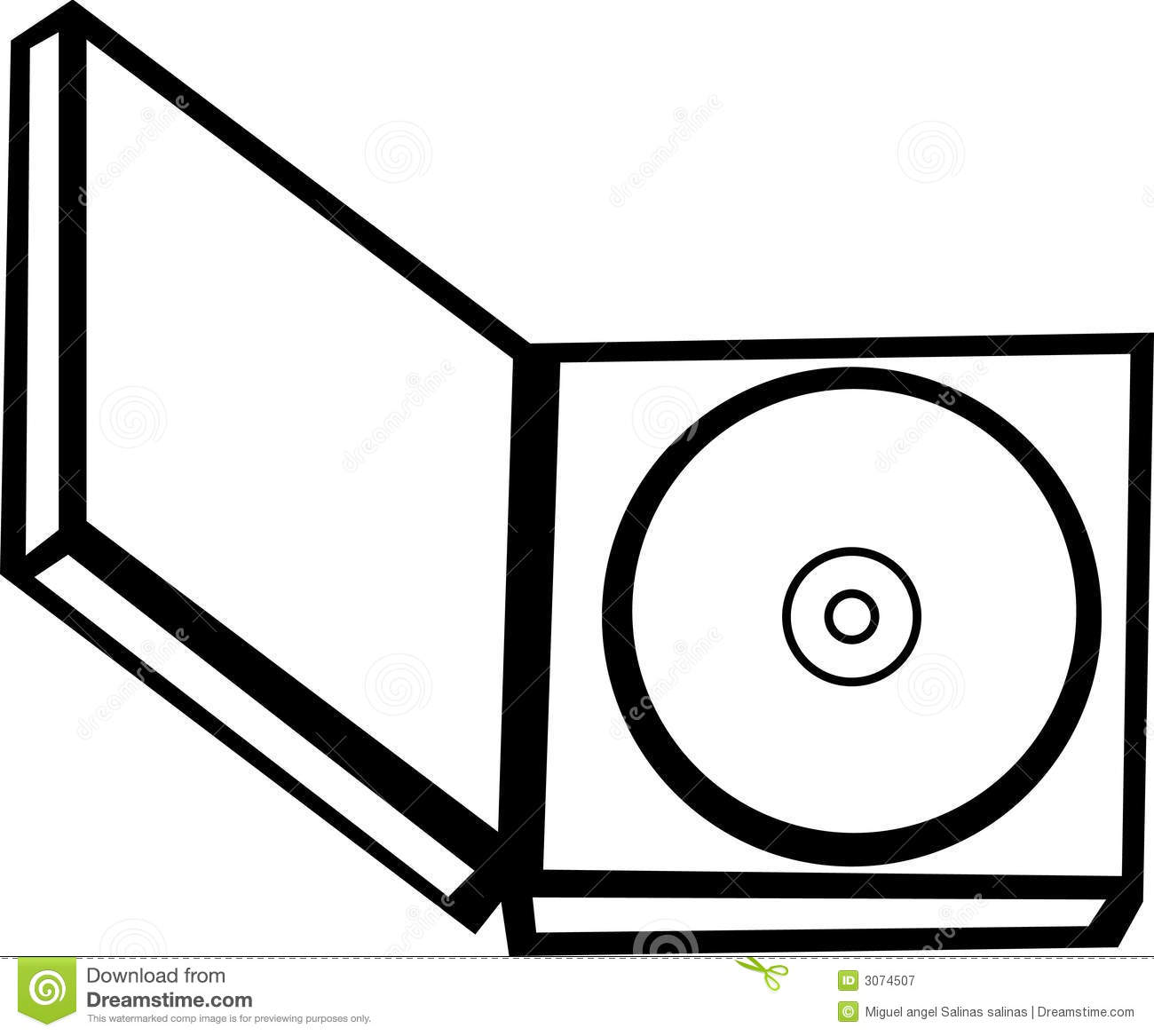 Cd In An Open Case Vector Illustration Royalty Free Stock