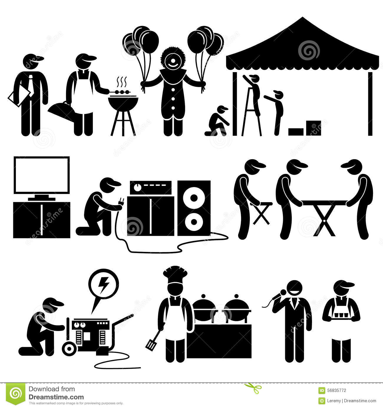 Celebration Party Festival Event Services Clipart Stock