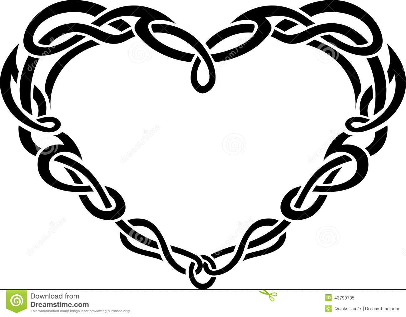 Celtic Heart Border Stock Illustration Illustration Of