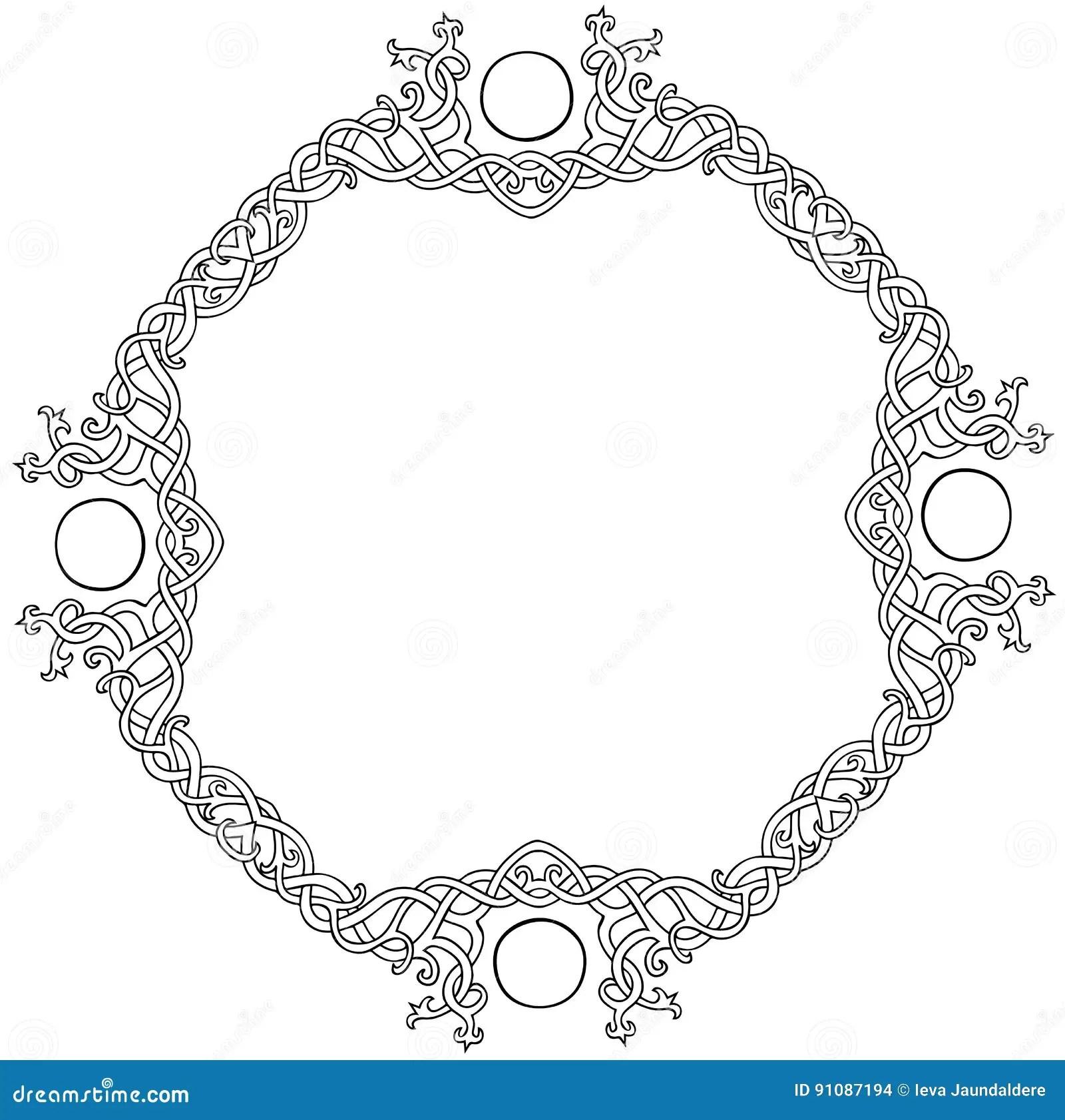 Celtic Decorative Knot Frame Cartoon Vector