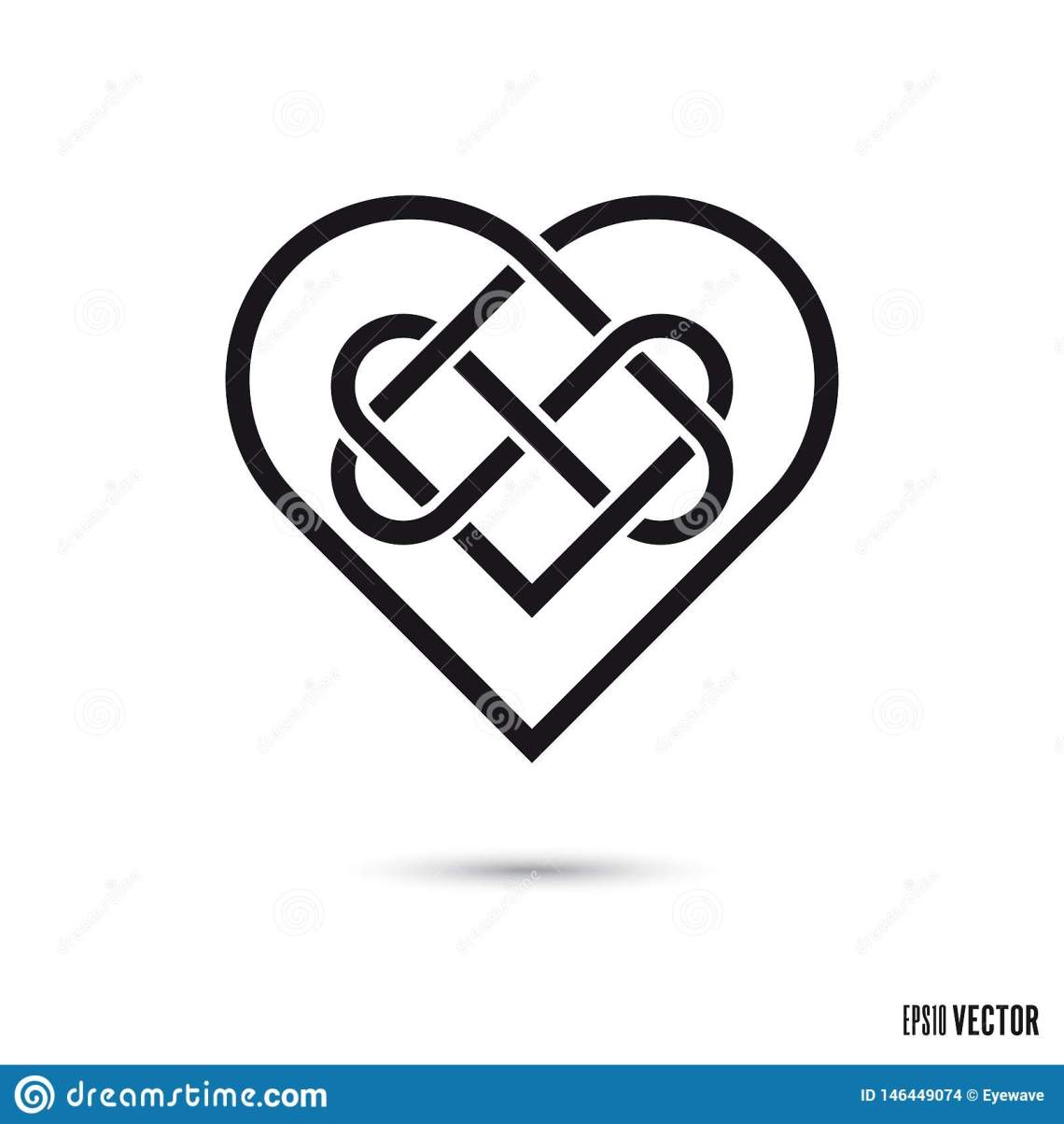 Download Celtic love knot stock vector. Illustration of sign ...