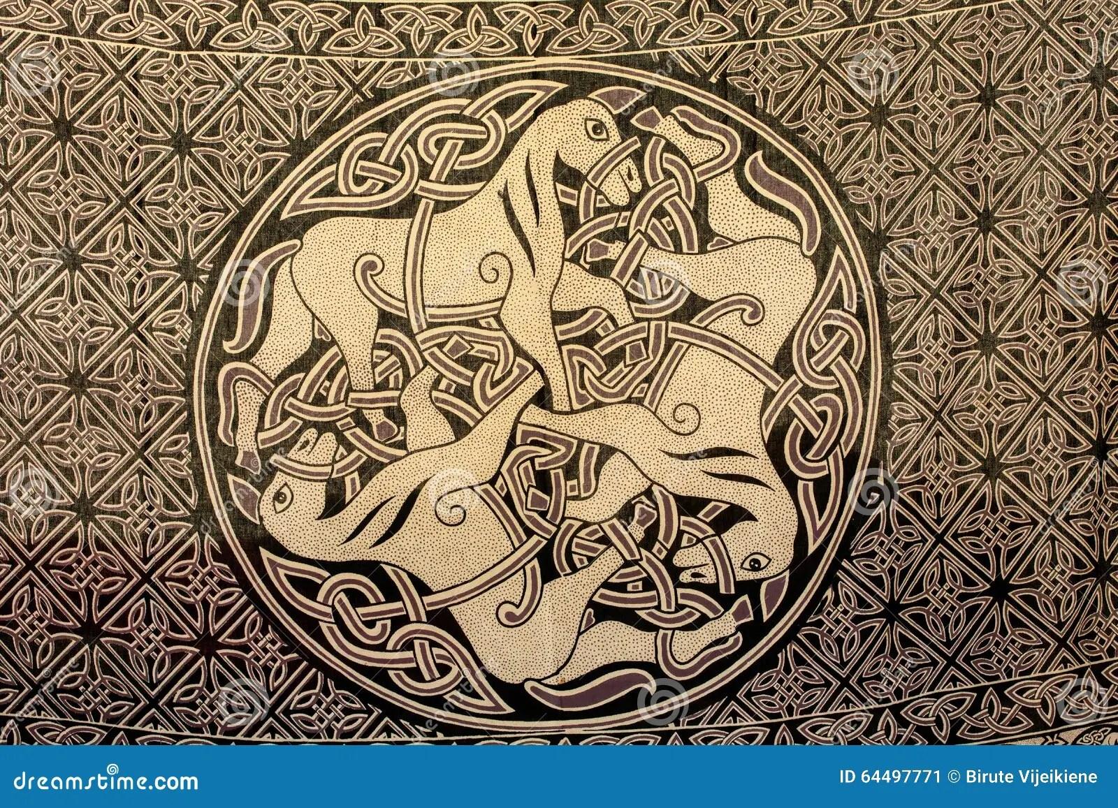 Celtic Element Knot Pattern
