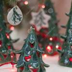 Ceramic Green Christmas Tree Candle Holders New Year Gift Stock Photo Image Of Bowl Holders 133666520