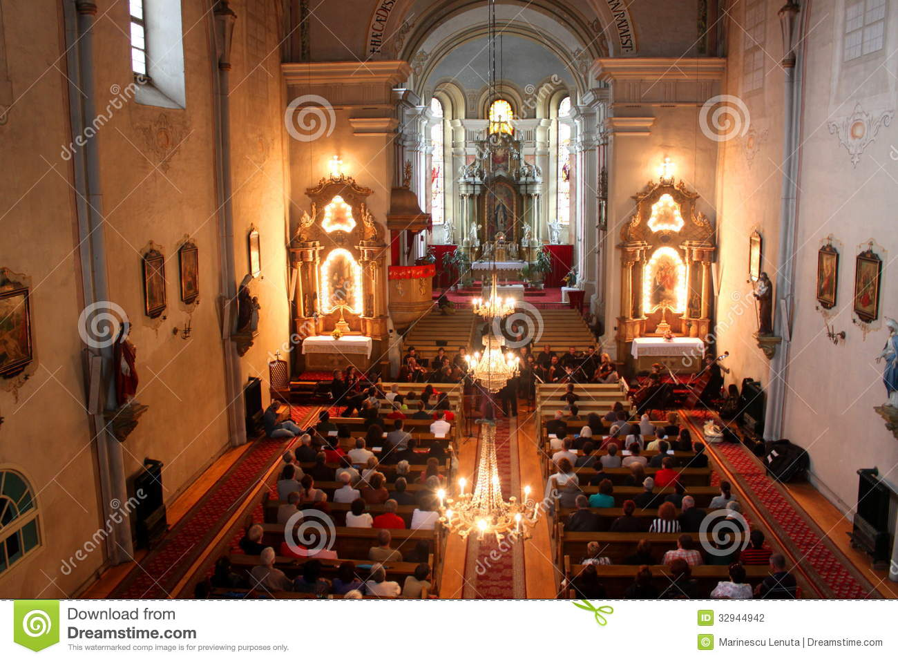 Ceremony In Catholic Church Editorial Photography Image