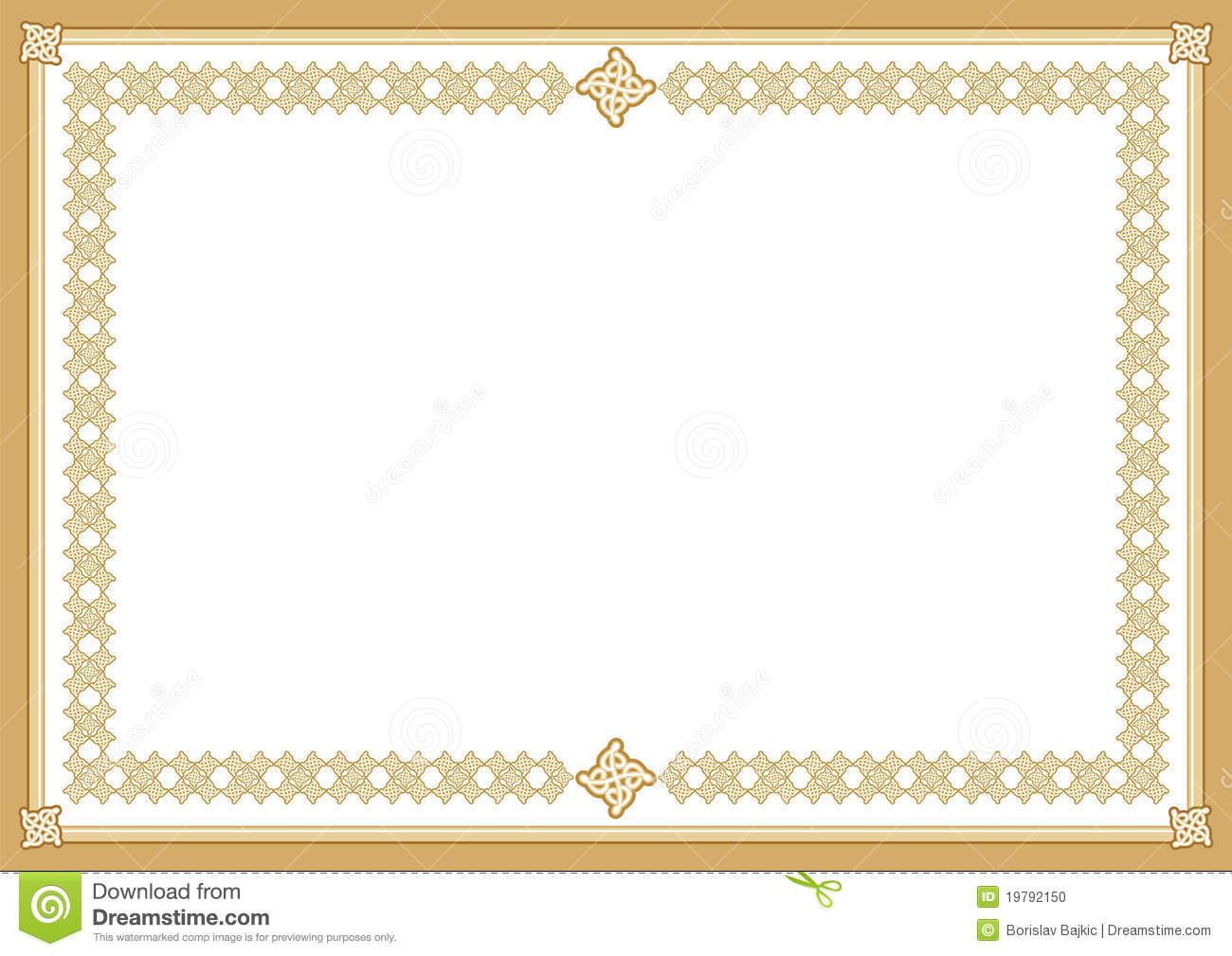 Certificate Stock Vector Illustration Of Award Blank