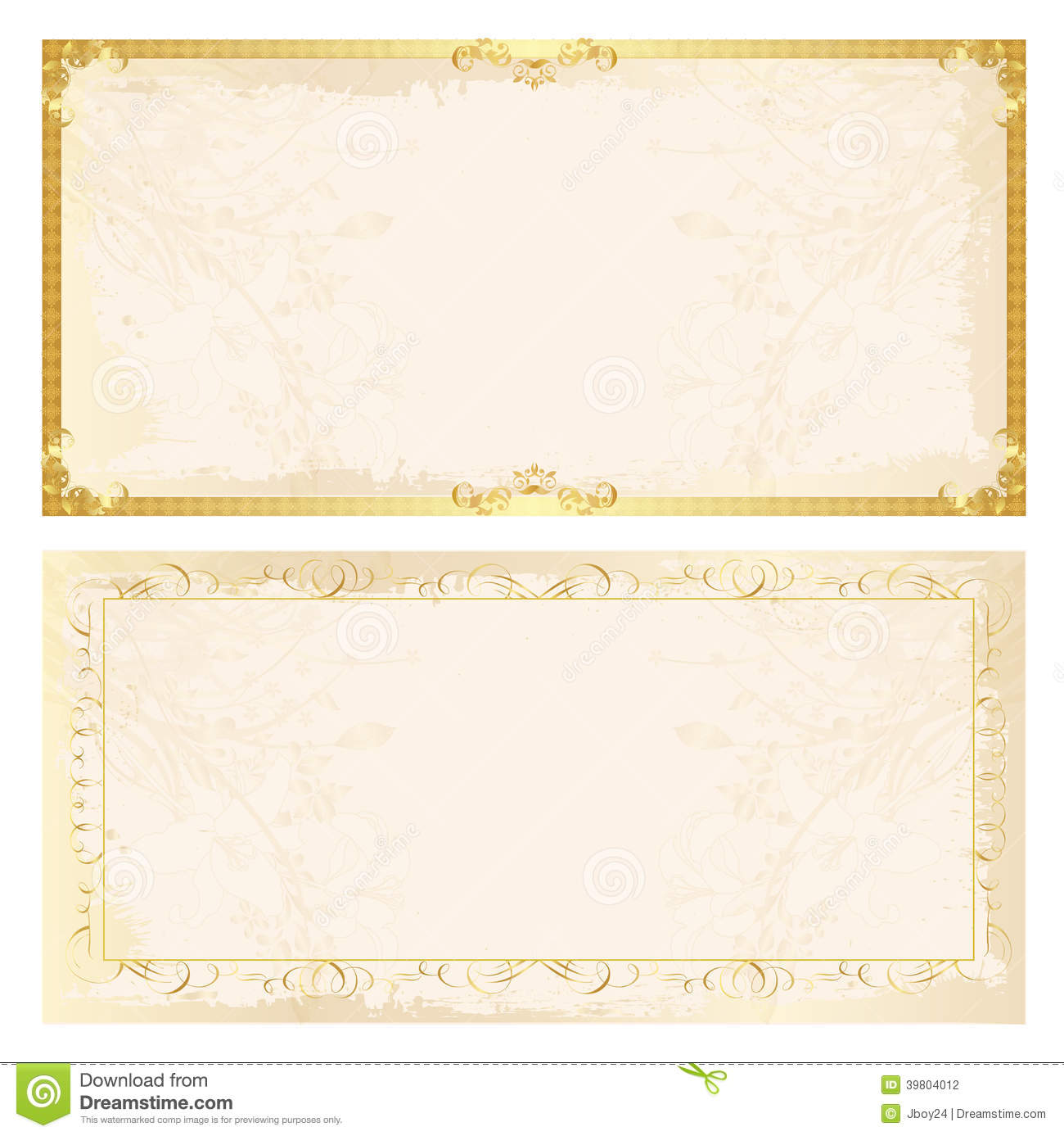 And Certificate Borders Gold Frames
